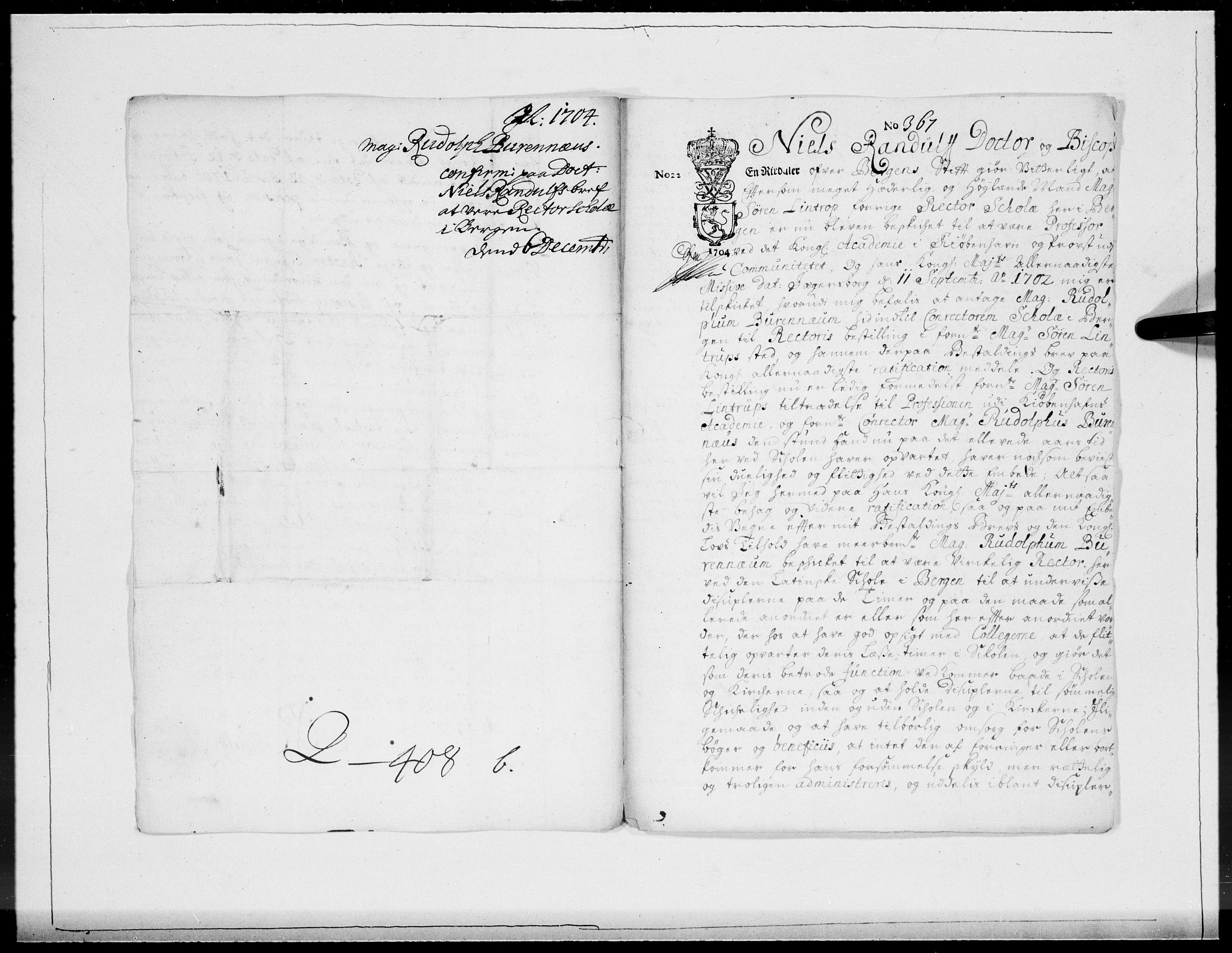 RA, Danske Kanselli 1572-1799, F/Fc/Fcc/Fcca/L0057: Norske innlegg 1572-1799, 1704, s. 499