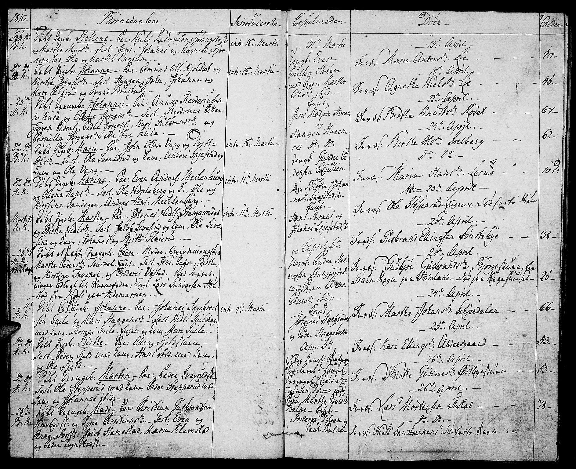 SAH, Toten prestekontor, Ministerialbok nr. 8, 1809-1814, s. 7