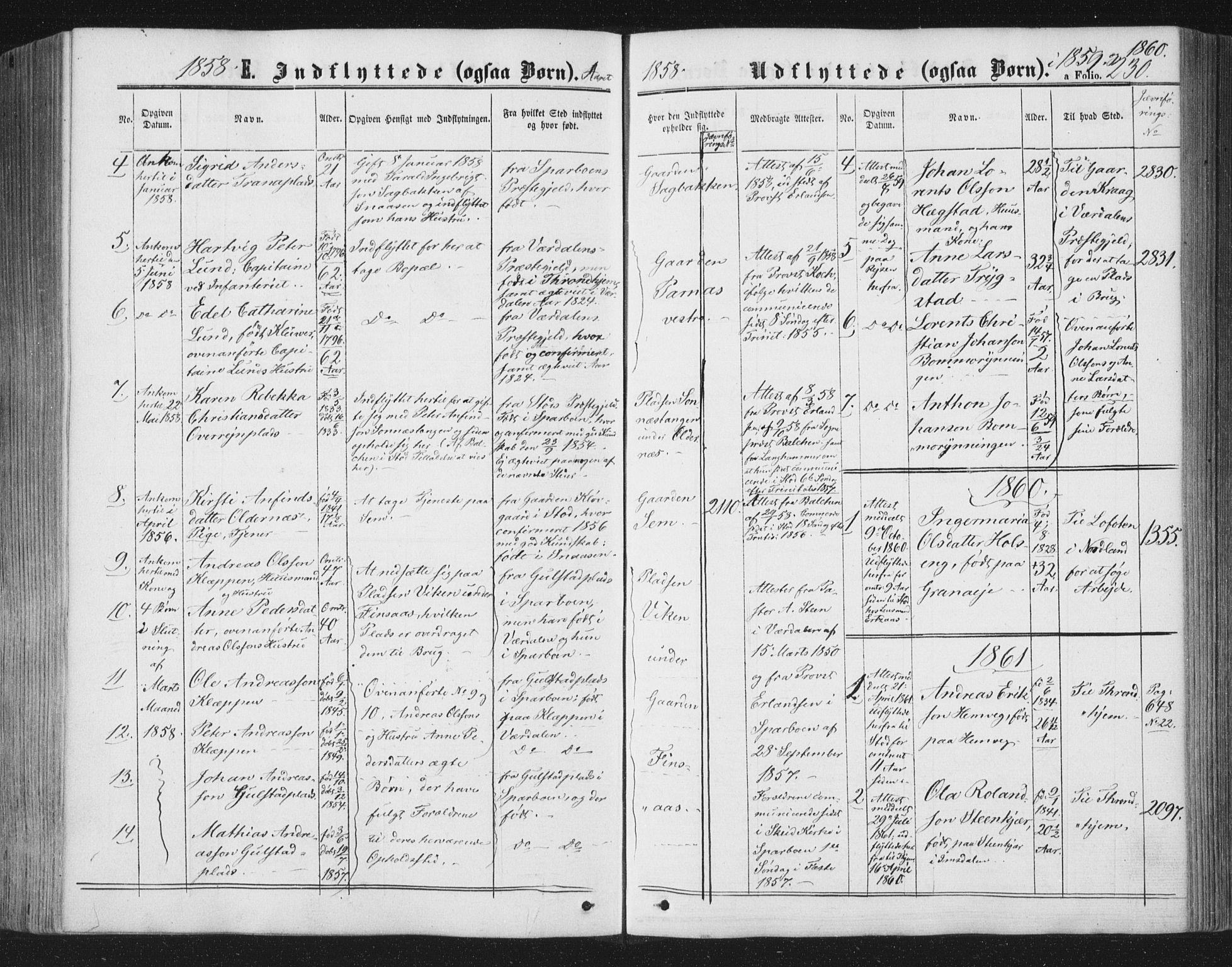 SAT, Ministerialprotokoller, klokkerbøker og fødselsregistre - Nord-Trøndelag, 749/L0472: Ministerialbok nr. 749A06, 1857-1873, s. 230