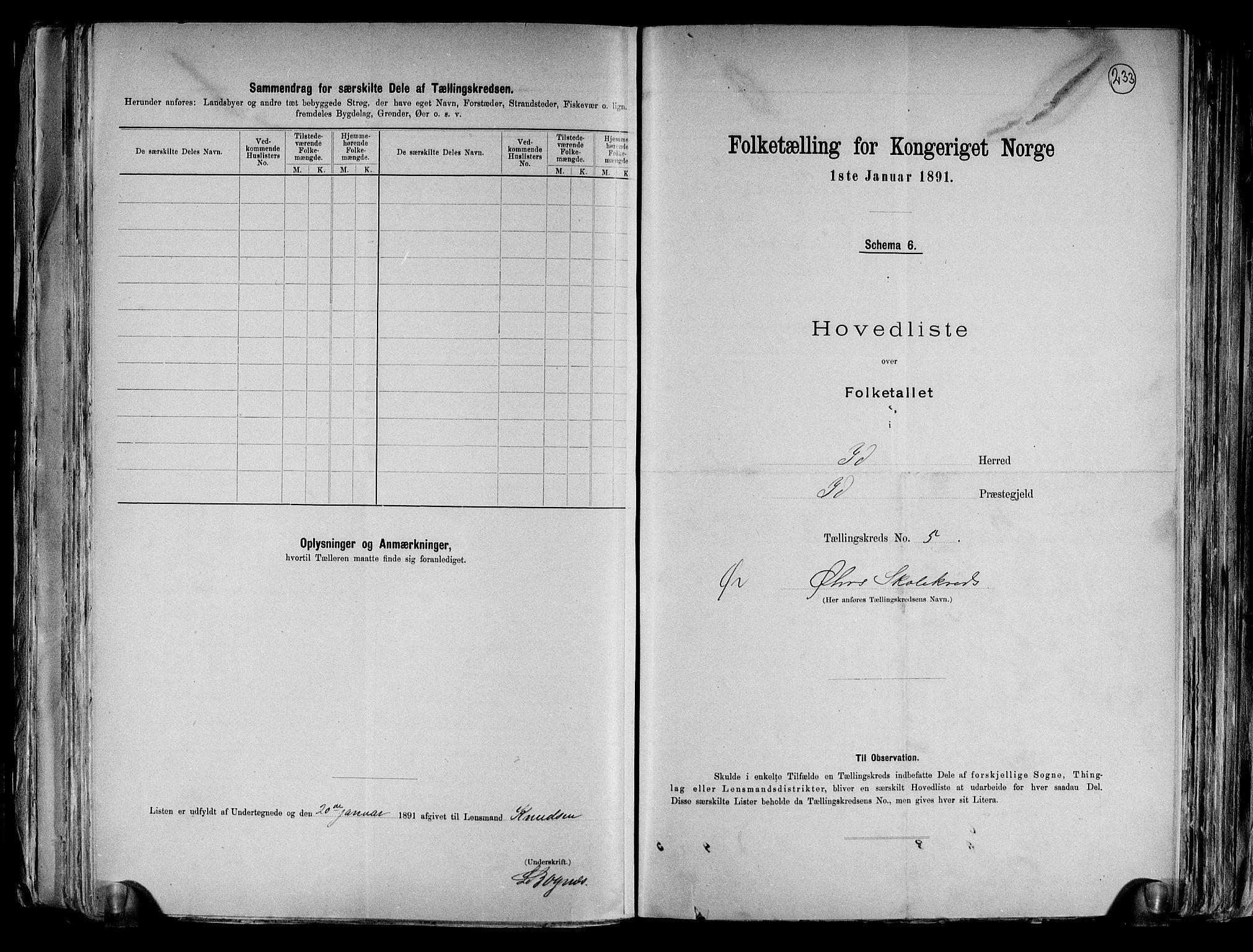 RA, Folketelling 1891 for 0117 Idd herred, 1891, s. 14