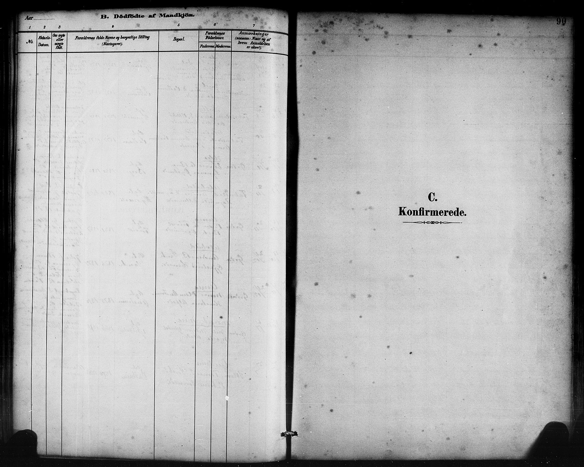 SAB, Lavik Sokneprestembete, Klokkerbok nr. B 3, 1882-1913, s. 90