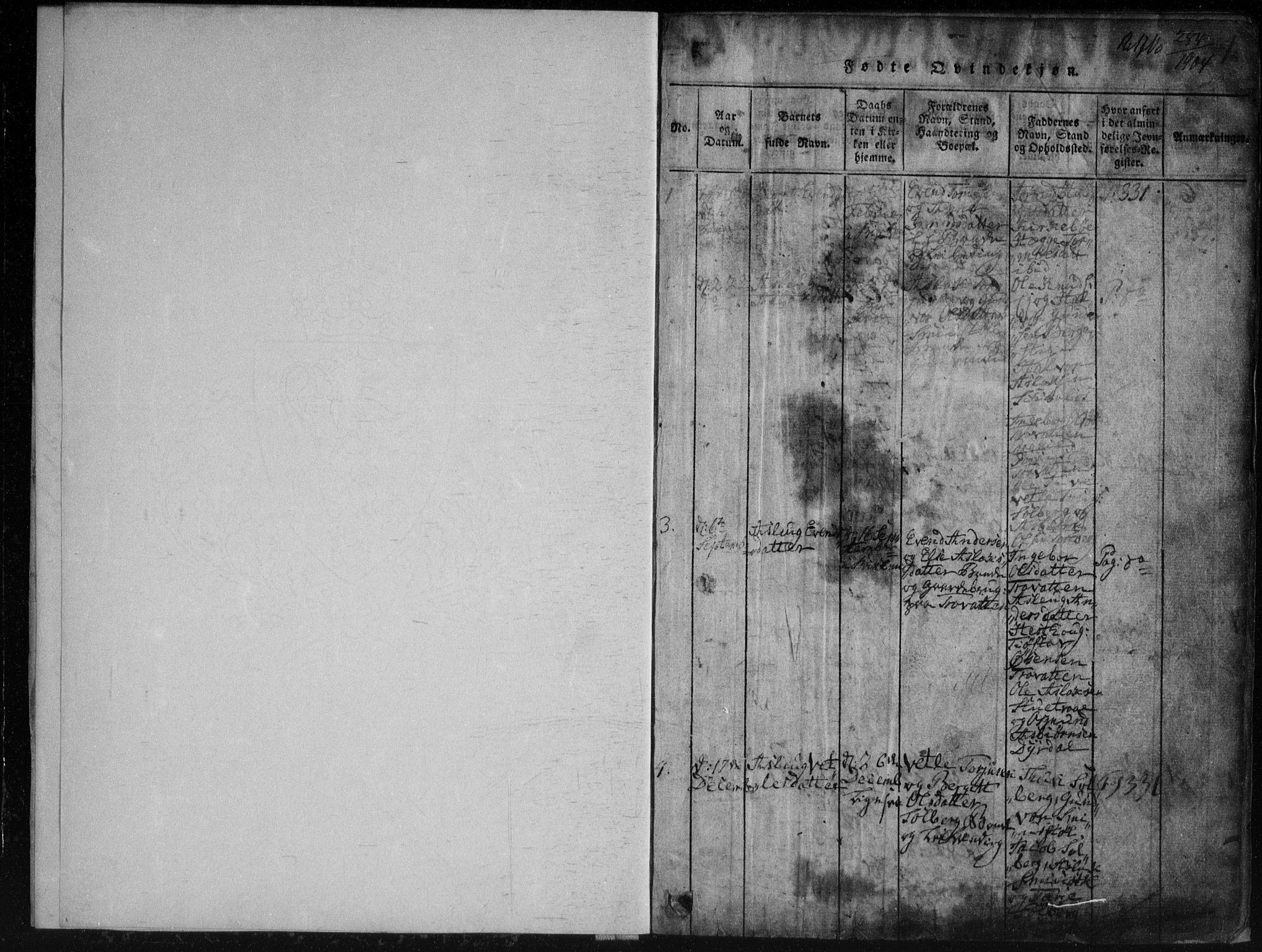 SAKO, Rauland kirkebøker, G/Gb/L0001: Klokkerbok nr. II 1, 1815-1886, s. 1