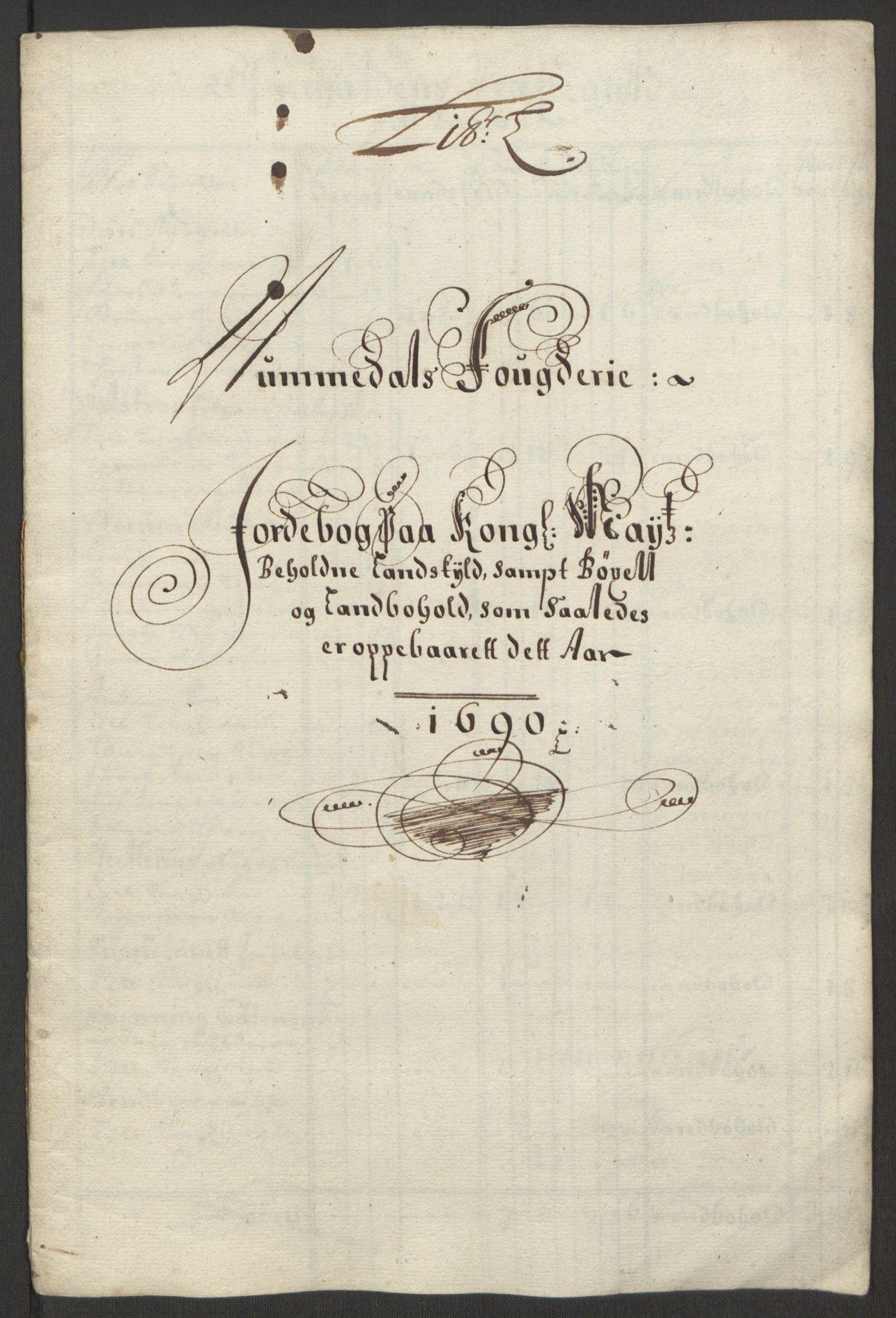 RA, Rentekammeret inntil 1814, Reviderte regnskaper, Fogderegnskap, R64/L4423: Fogderegnskap Namdal, 1690-1691, s. 72