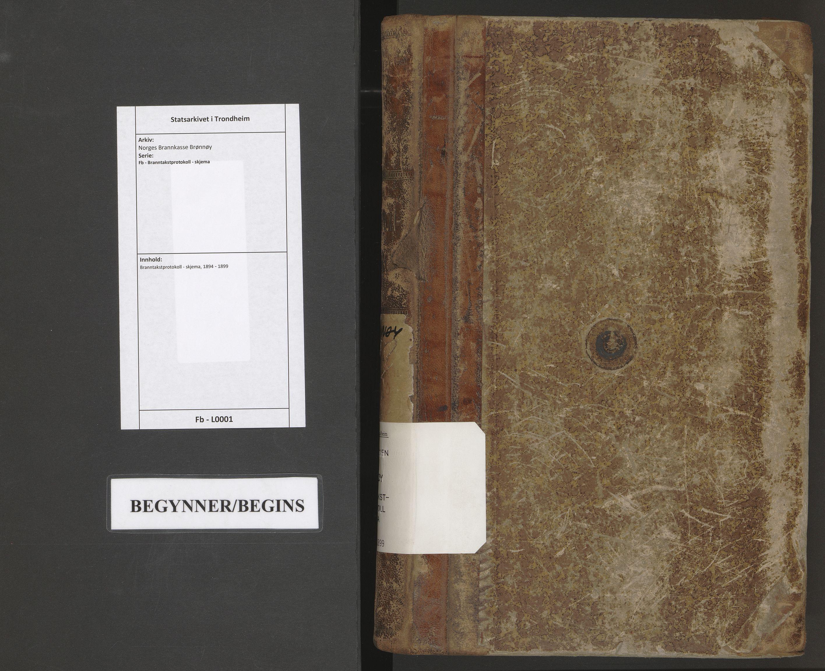 SAT, Norges Brannkasse Brønnøy, Fb/L0001: Branntakstprotokoll - skjema, 1894-1899