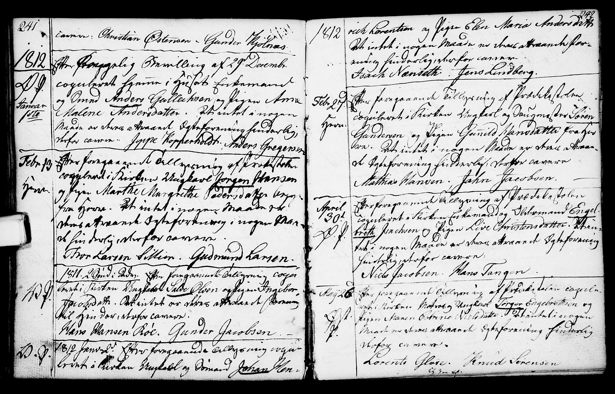 SAKO, Porsgrunn kirkebøker , F/Fa/L0003: Ministerialbok nr. 3, 1764-1814, s. 241-242