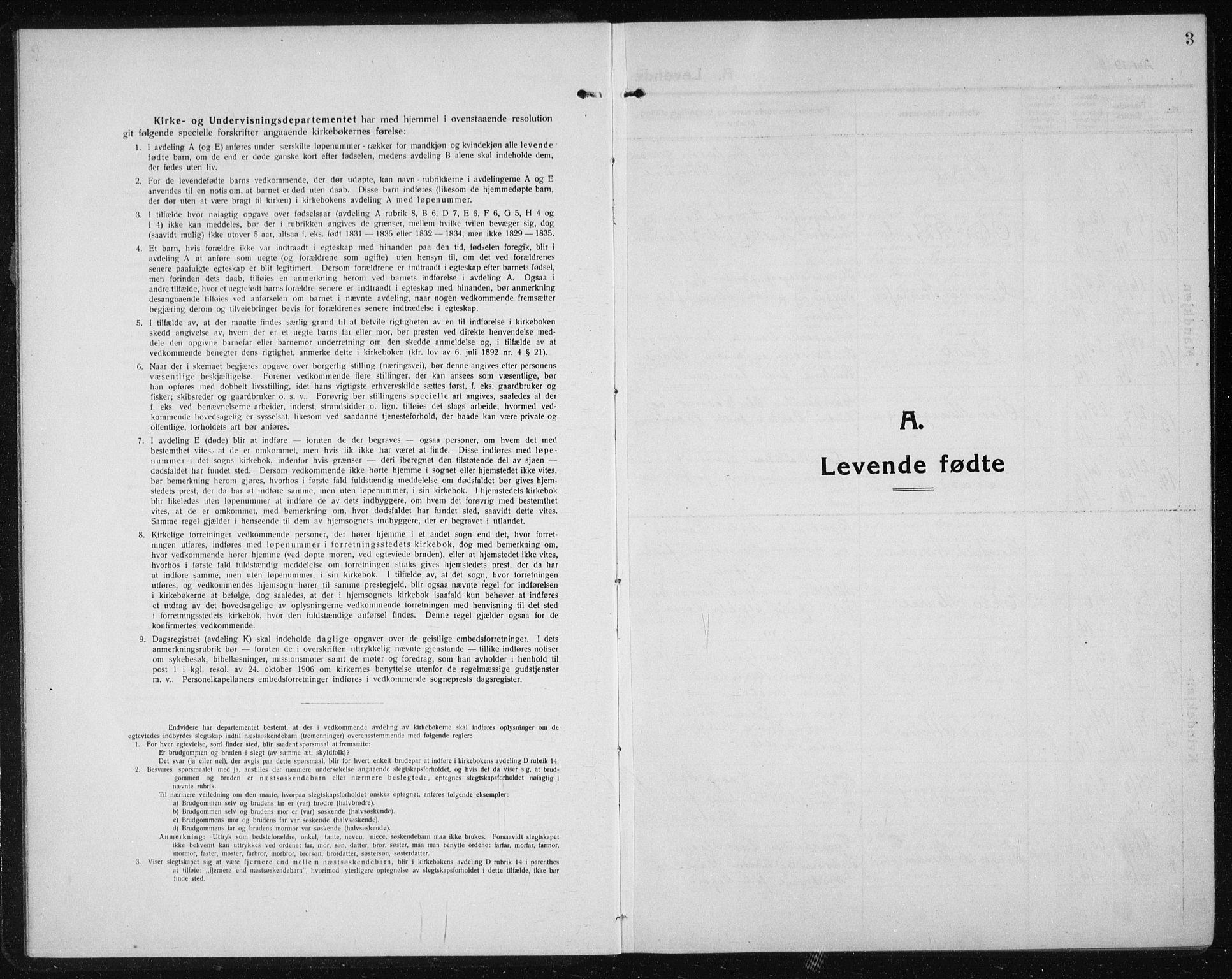 SAT, Ministerialprotokoller, klokkerbøker og fødselsregistre - Sør-Trøndelag, 611/L0356: Klokkerbok nr. 611C04, 1914-1938, s. 3