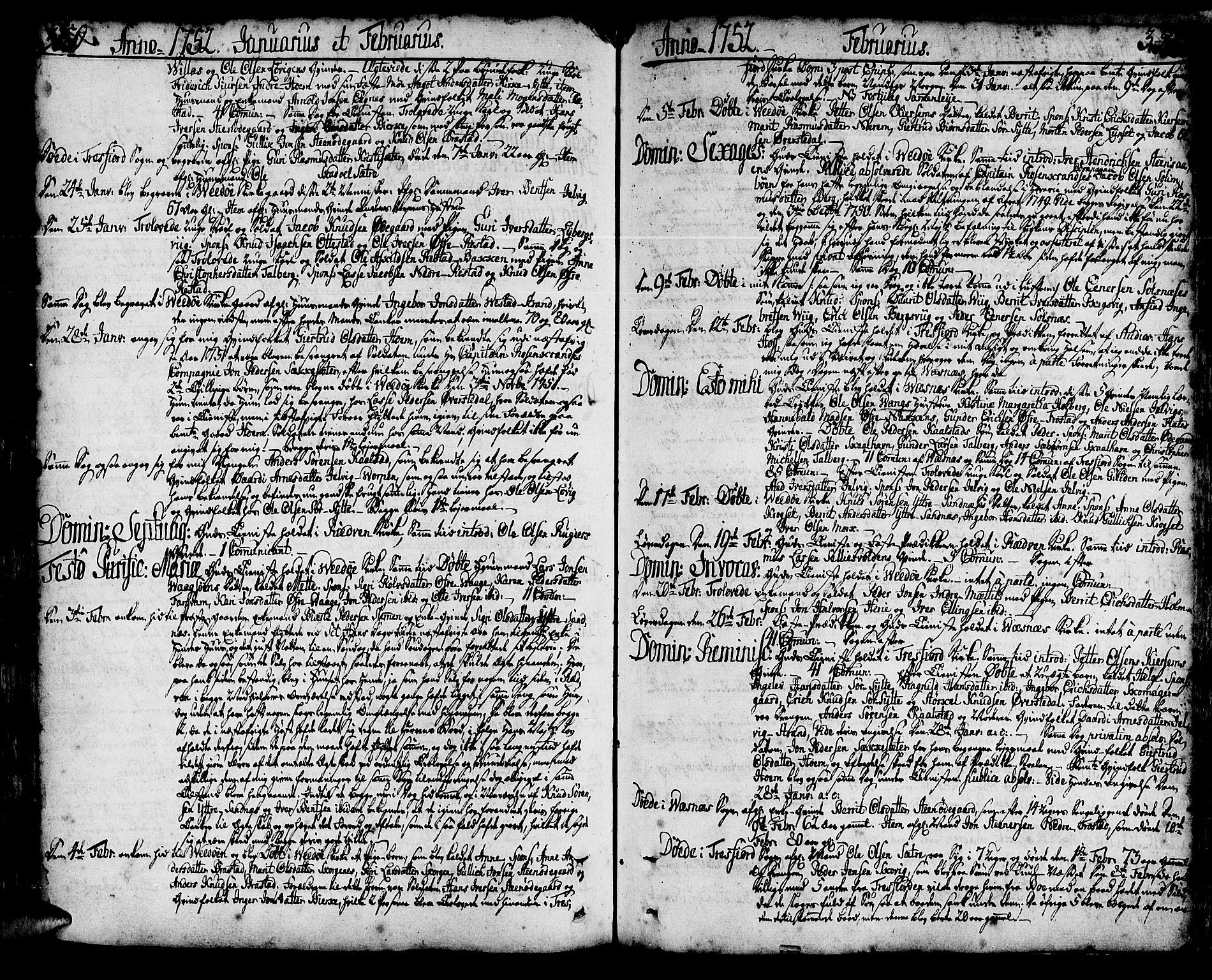 SAT, Ministerialprotokoller, klokkerbøker og fødselsregistre - Møre og Romsdal, 547/L0599: Ministerialbok nr. 547A01, 1721-1764, s. 350-351