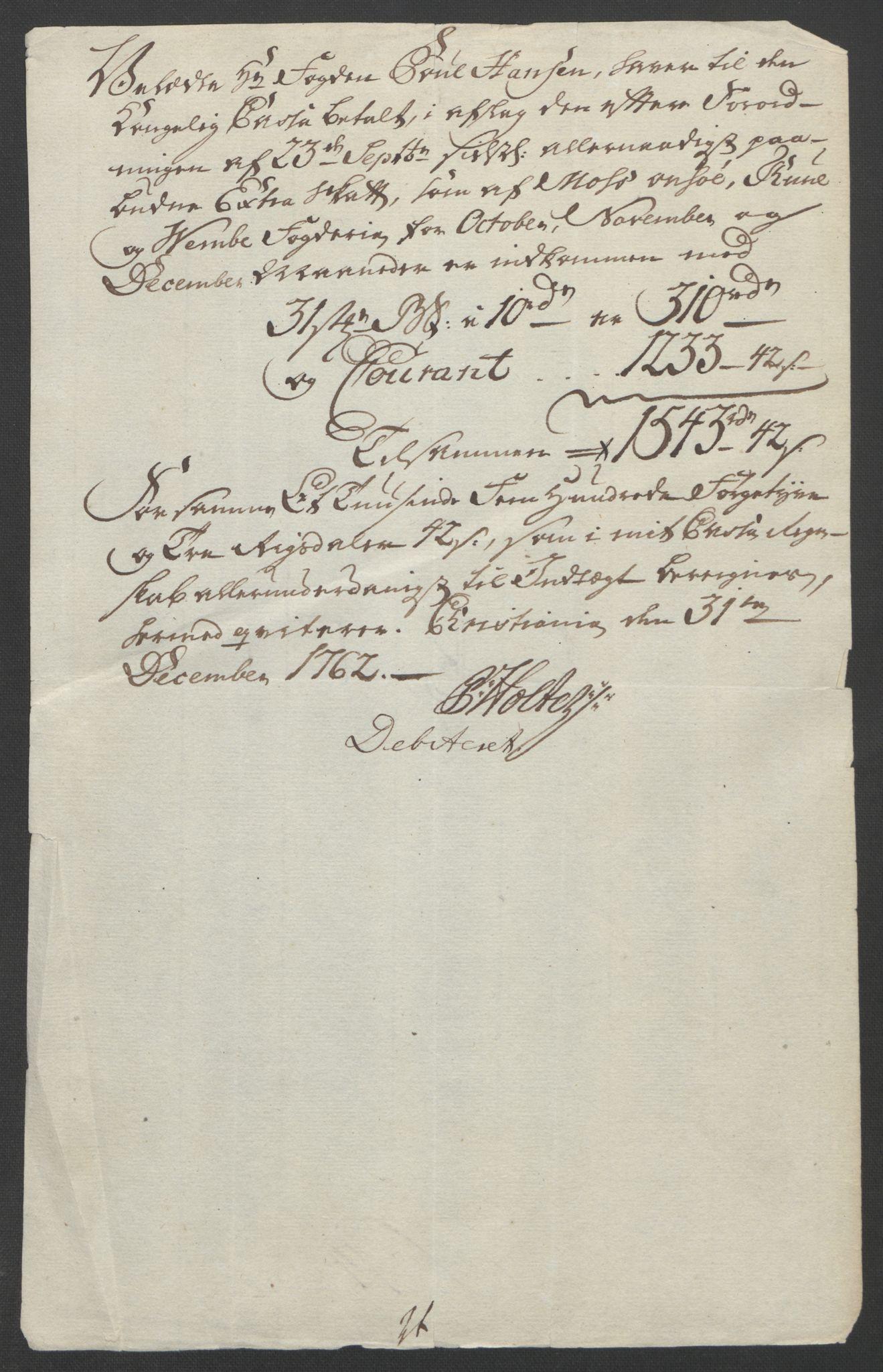 RA, Rentekammeret inntil 1814, Reviderte regnskaper, Fogderegnskap, R04/L0260: Ekstraskatten Moss, Onsøy, Tune, Veme og Åbygge, 1762, s. 330