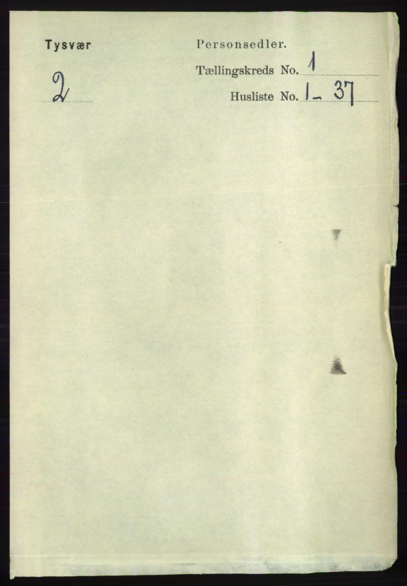 RA, Folketelling 1891 for 1146 Tysvær herred, 1891, s. 116