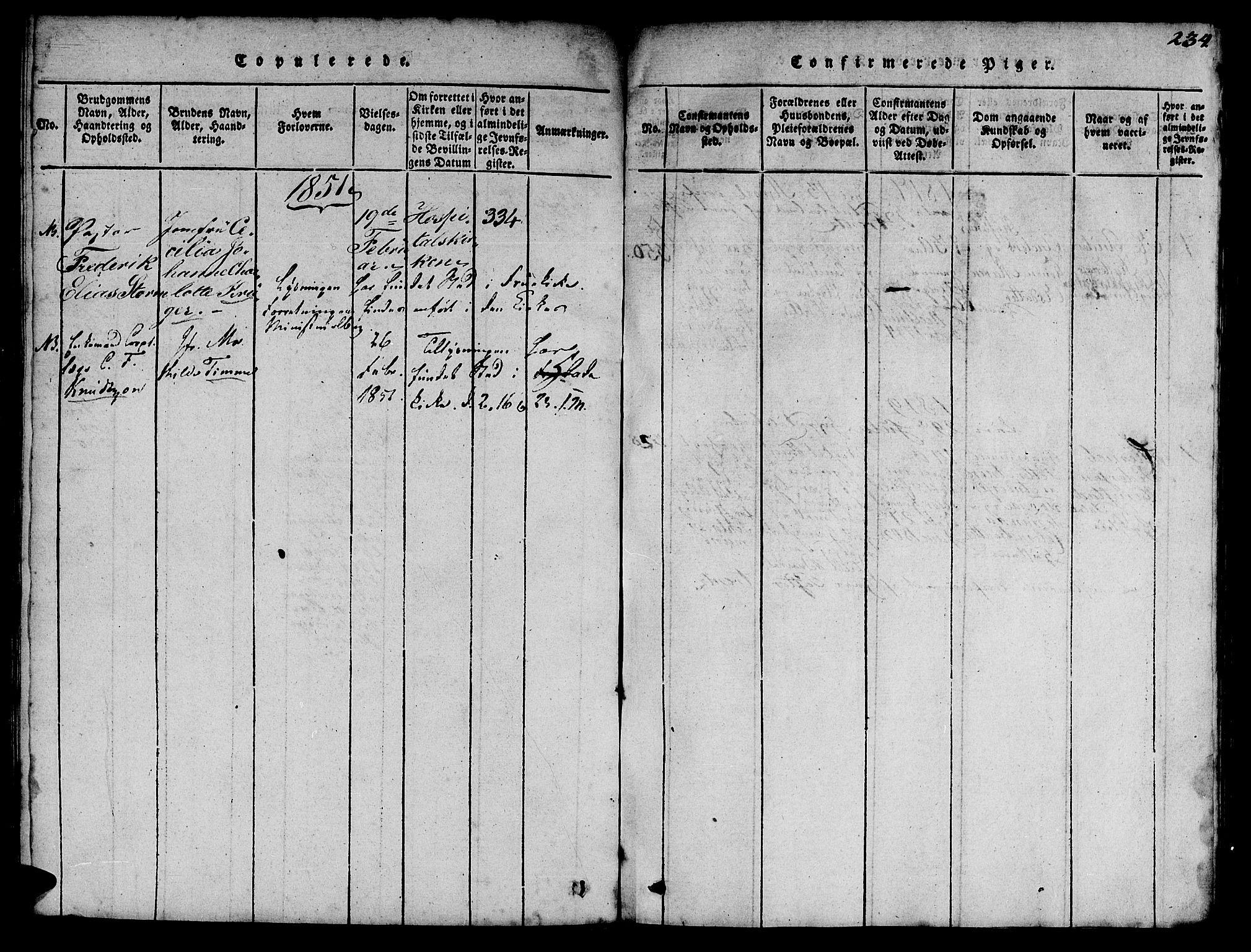 SAT, Ministerialprotokoller, klokkerbøker og fødselsregistre - Sør-Trøndelag, 623/L0478: Klokkerbok nr. 623C01, 1815-1873, s. 234