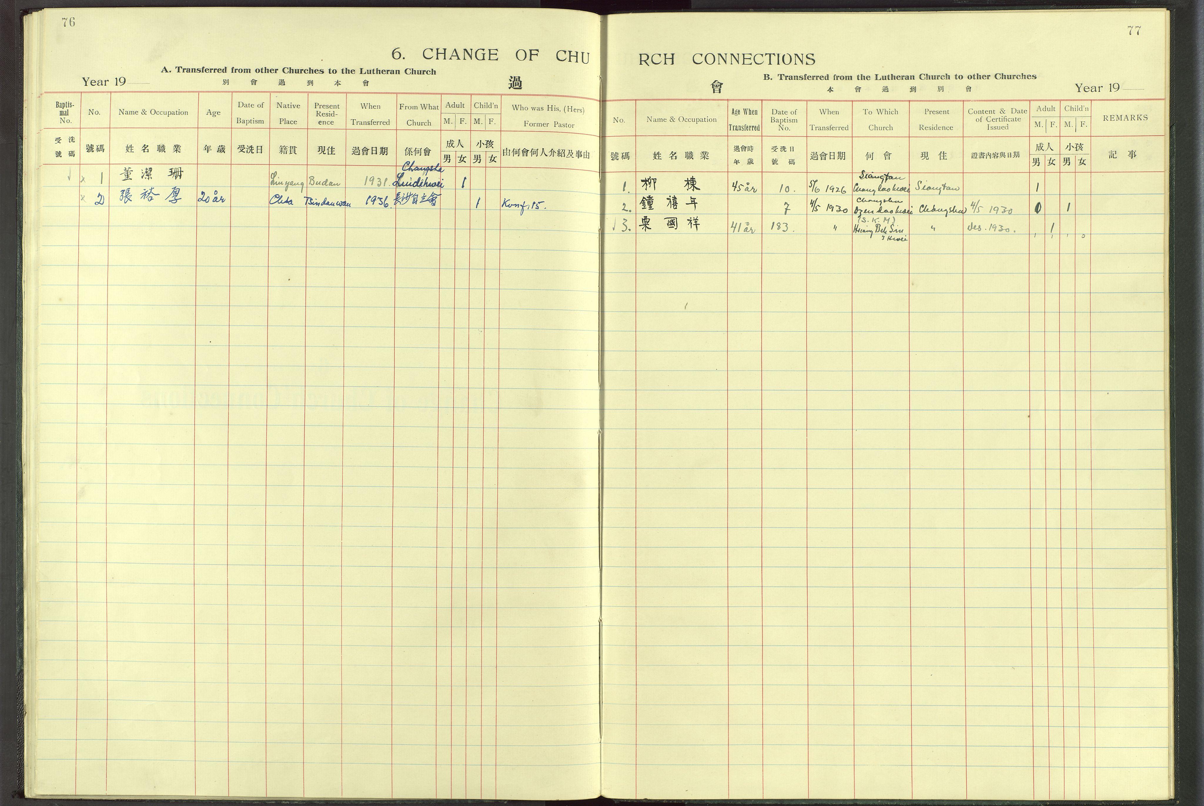 VID, Det Norske Misjonsselskap - utland - Kina (Hunan), Dm/L0017: Ministerialbok nr. -, 1913-1948, s. 76-77