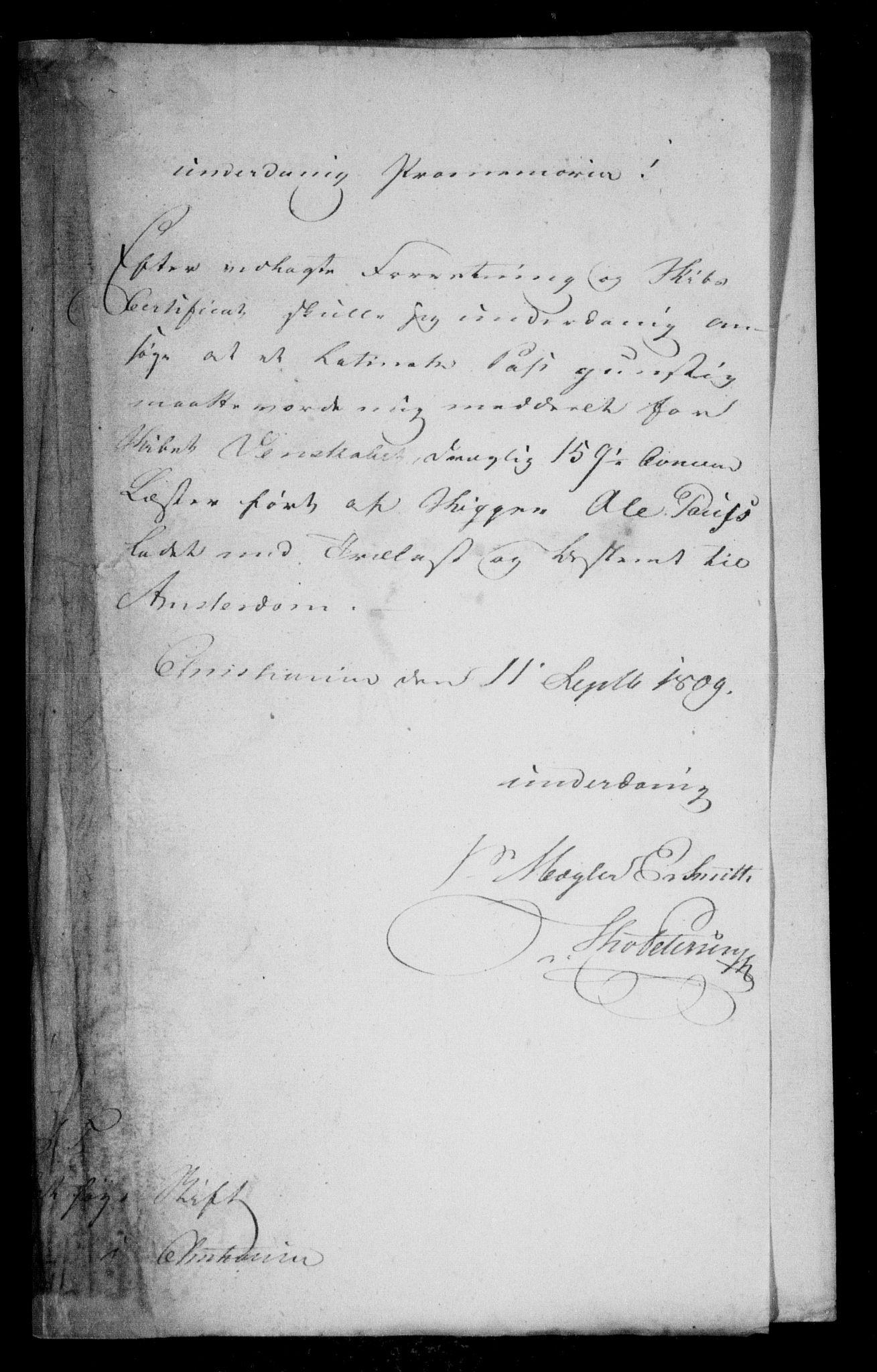 RA, Danske Kanselli, Skapsaker, F/L0052: Skap 13, pakke 2, 1809-1810, s. 109