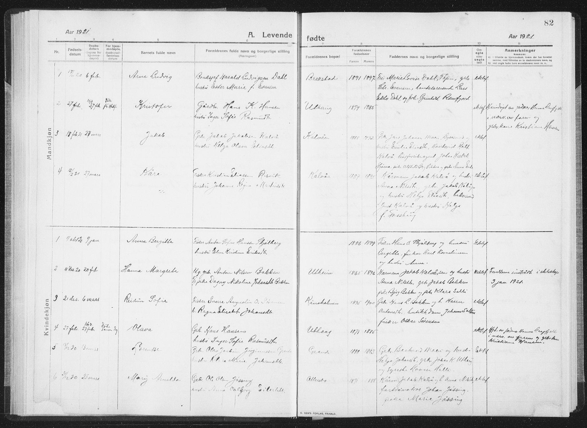 SAT, Ministerialprotokoller, klokkerbøker og fødselsregistre - Sør-Trøndelag, 659/L0747: Klokkerbok nr. 659C04, 1913-1938, s. 82
