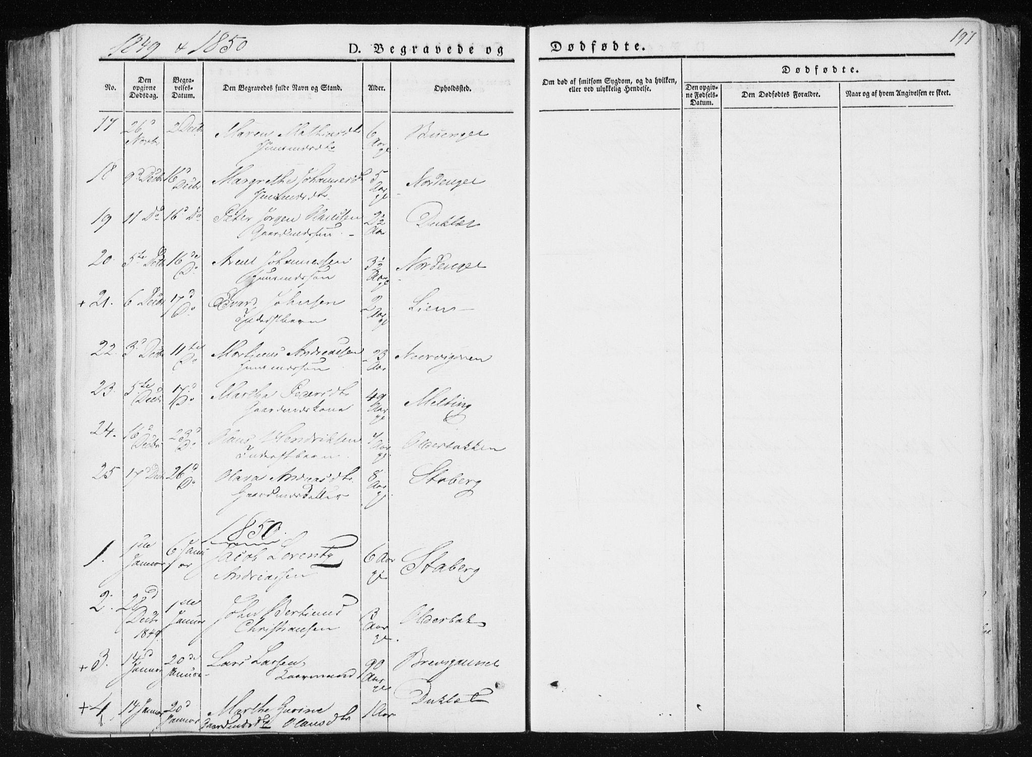 SAT, Ministerialprotokoller, klokkerbøker og fødselsregistre - Nord-Trøndelag, 733/L0323: Ministerialbok nr. 733A02, 1843-1870, s. 197