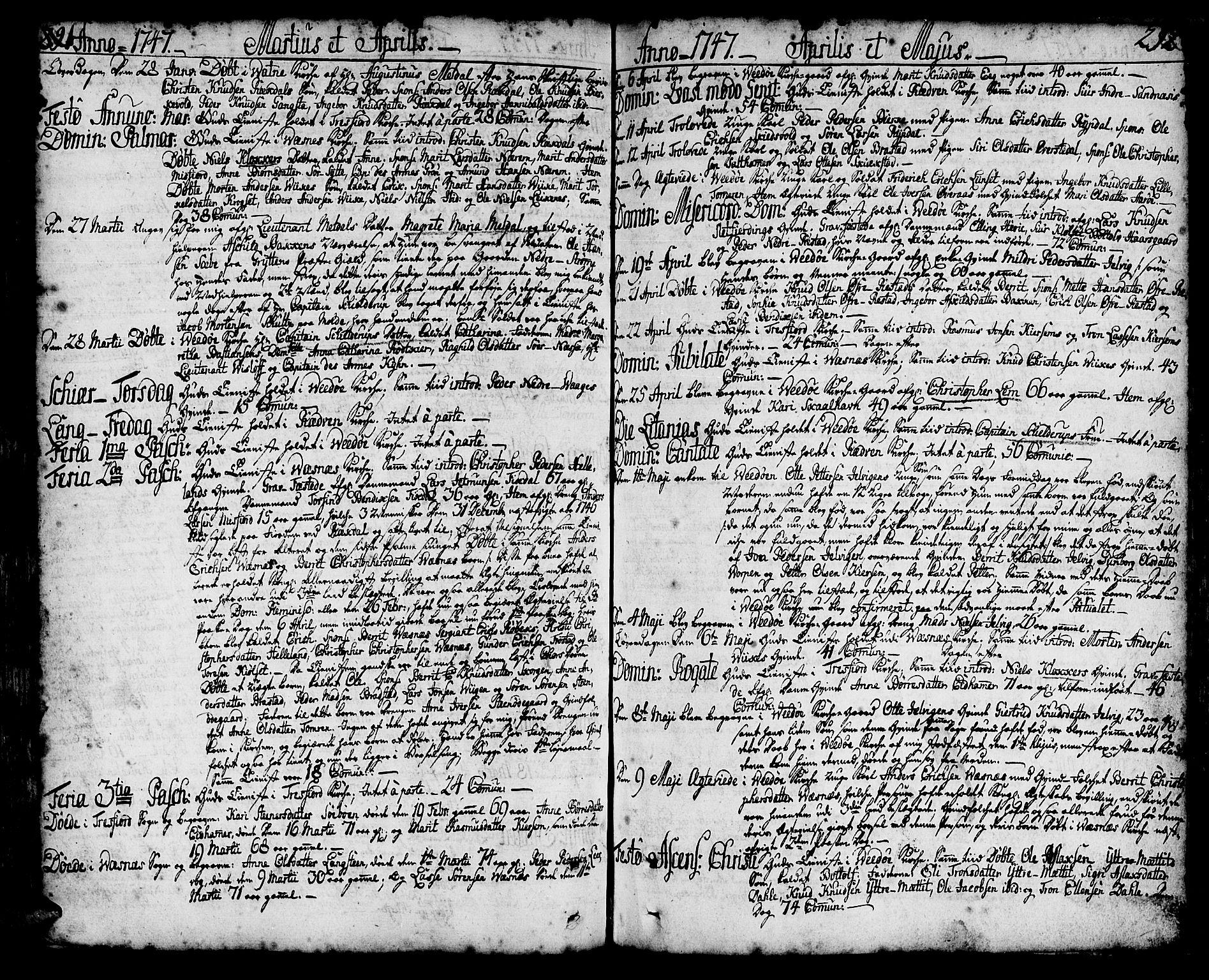 SAT, Ministerialprotokoller, klokkerbøker og fødselsregistre - Møre og Romsdal, 547/L0599: Ministerialbok nr. 547A01, 1721-1764, s. 290-291