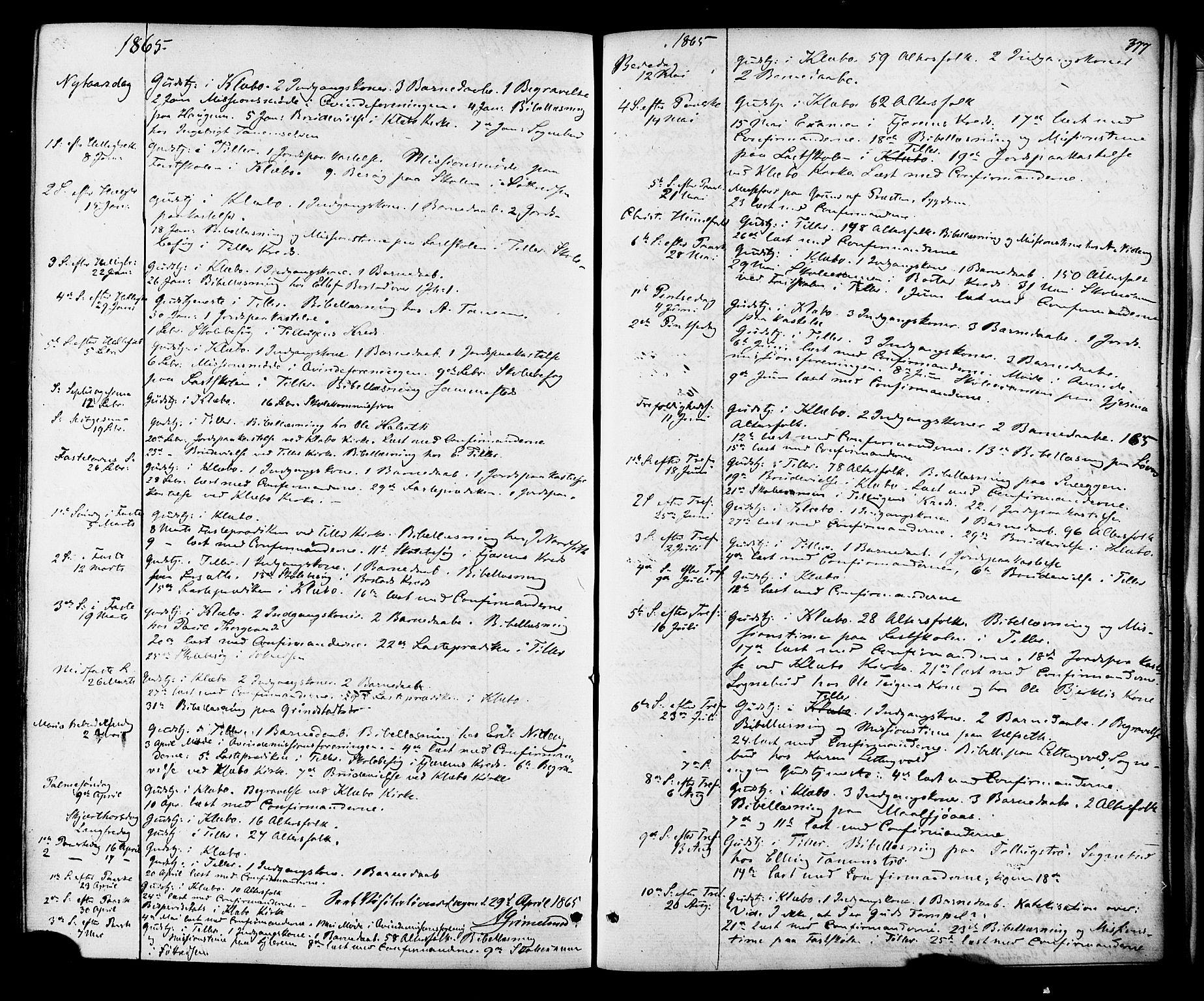 SAT, Ministerialprotokoller, klokkerbøker og fødselsregistre - Sør-Trøndelag, 618/L0442: Ministerialbok nr. 618A06 /1, 1863-1879, s. 377