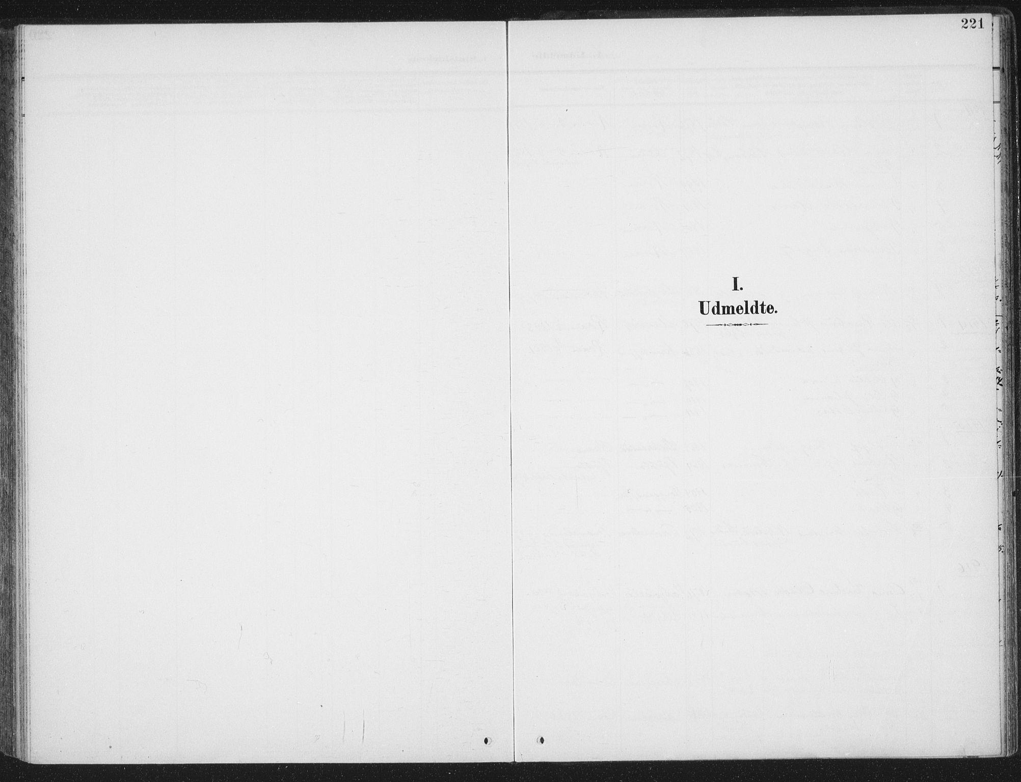 SAT, Ministerialprotokoller, klokkerbøker og fødselsregistre - Sør-Trøndelag, 657/L0709: Ministerialbok nr. 657A10, 1905-1919, s. 221