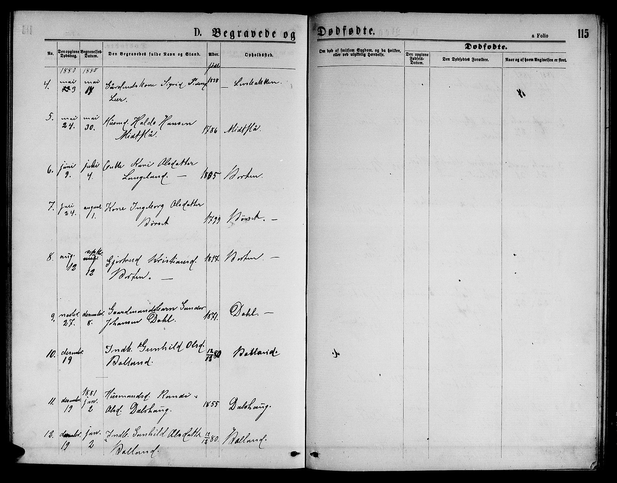 SAT, Ministerialprotokoller, klokkerbøker og fødselsregistre - Sør-Trøndelag, 693/L1122: Klokkerbok nr. 693C03, 1870-1886, s. 115