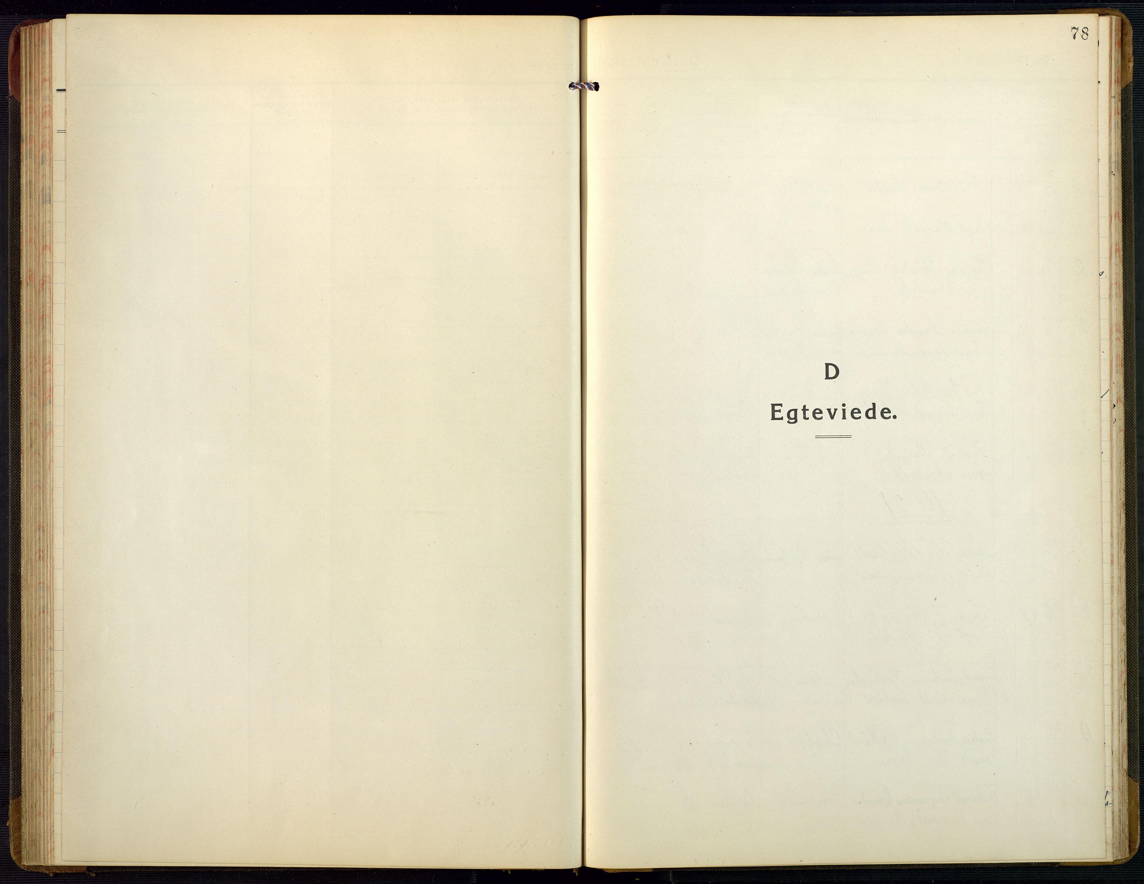 SAK, Bygland sokneprestkontor, F/Fb/Fbb/L0005: Klokkerbok nr. B 5, 1920-1955, s. 78