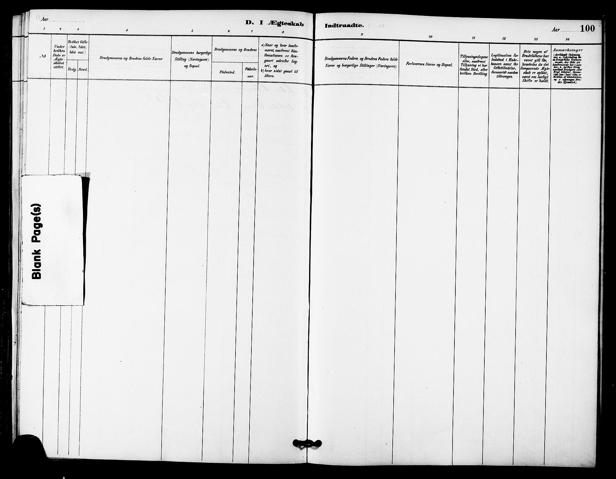 SAT, Ministerialprotokoller, klokkerbøker og fødselsregistre - Sør-Trøndelag, 633/L0519: Klokkerbok nr. 633C01, 1884-1905, s. 100