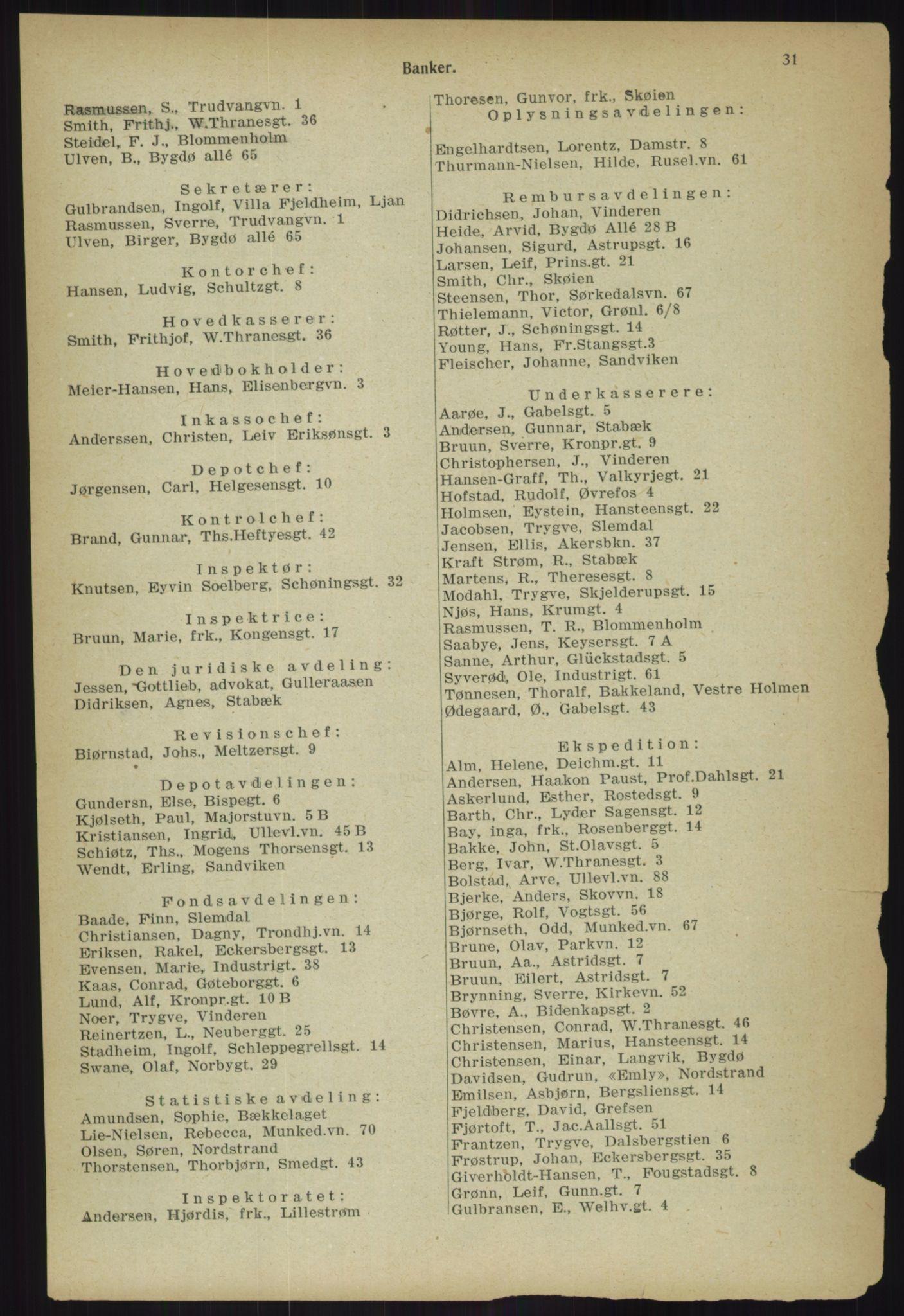 PUBL, Kristiania/Oslo adressebok, 1918, s. 38