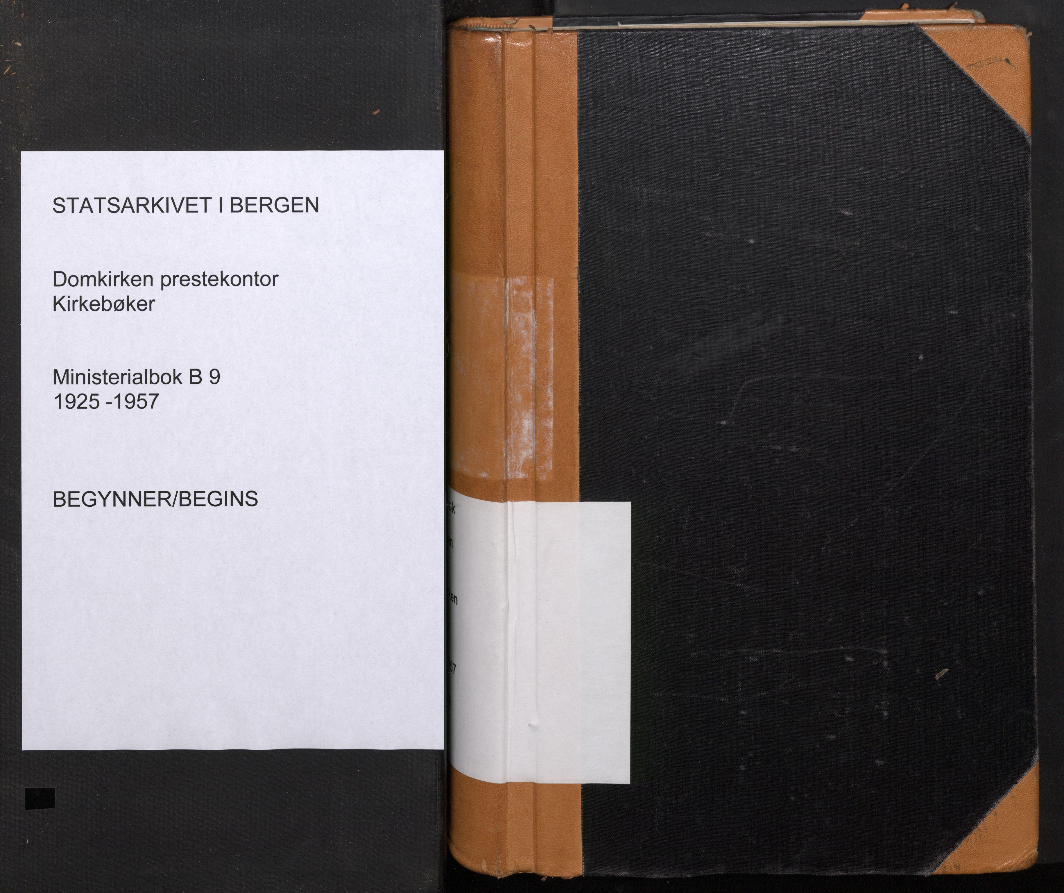 SAB, Domkirken Sokneprestembete, H/Haa: Ministerialbok nr. B 9, 1925-1957