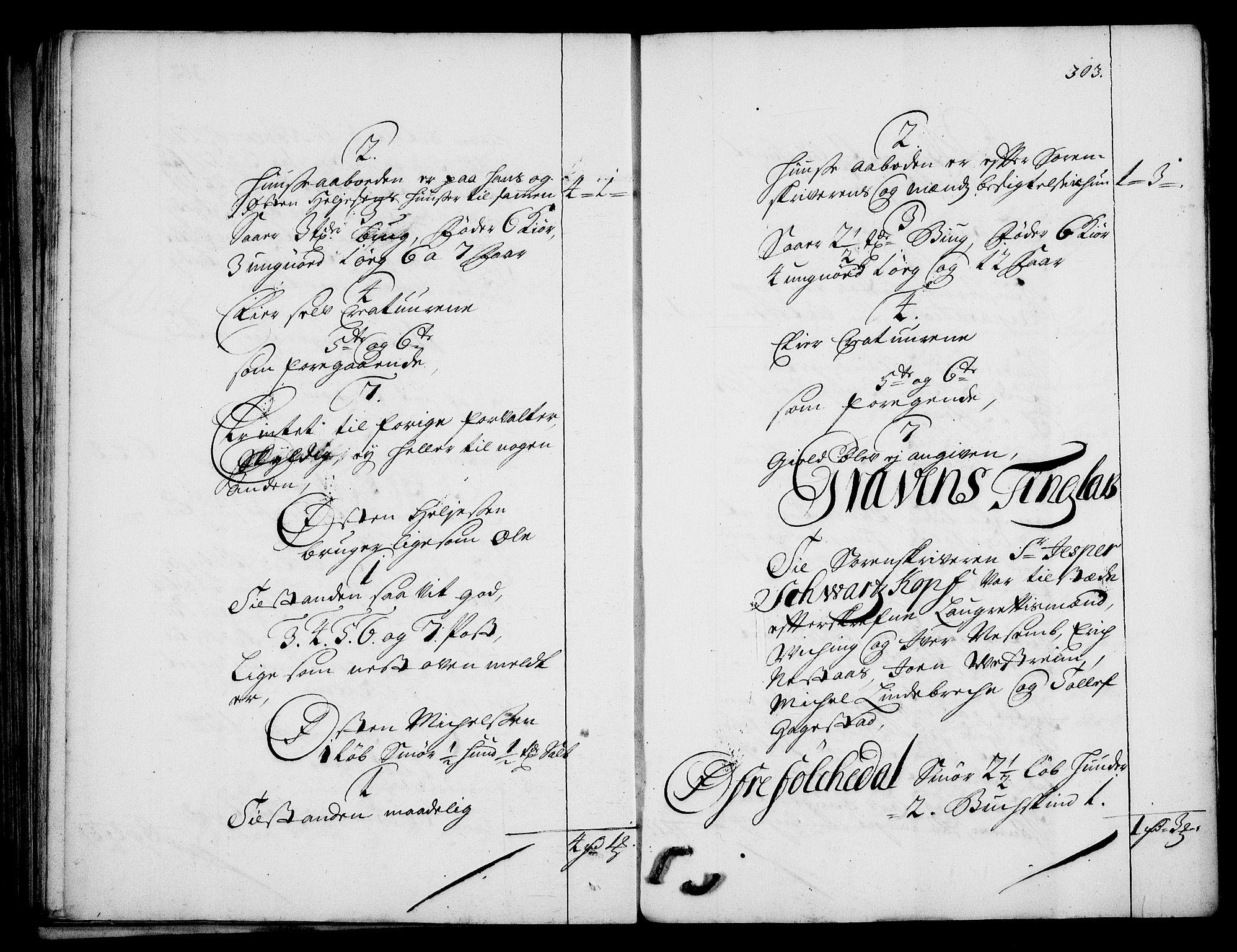 RA, Rentekammeret inntil 1814, Realistisk ordnet avdeling, On/L0003: [Jj 4]: Kommisjonsforretning over Vilhelm Hanssøns forpaktning av Halsnøy klosters gods, 1712-1722, s. 302b-303a