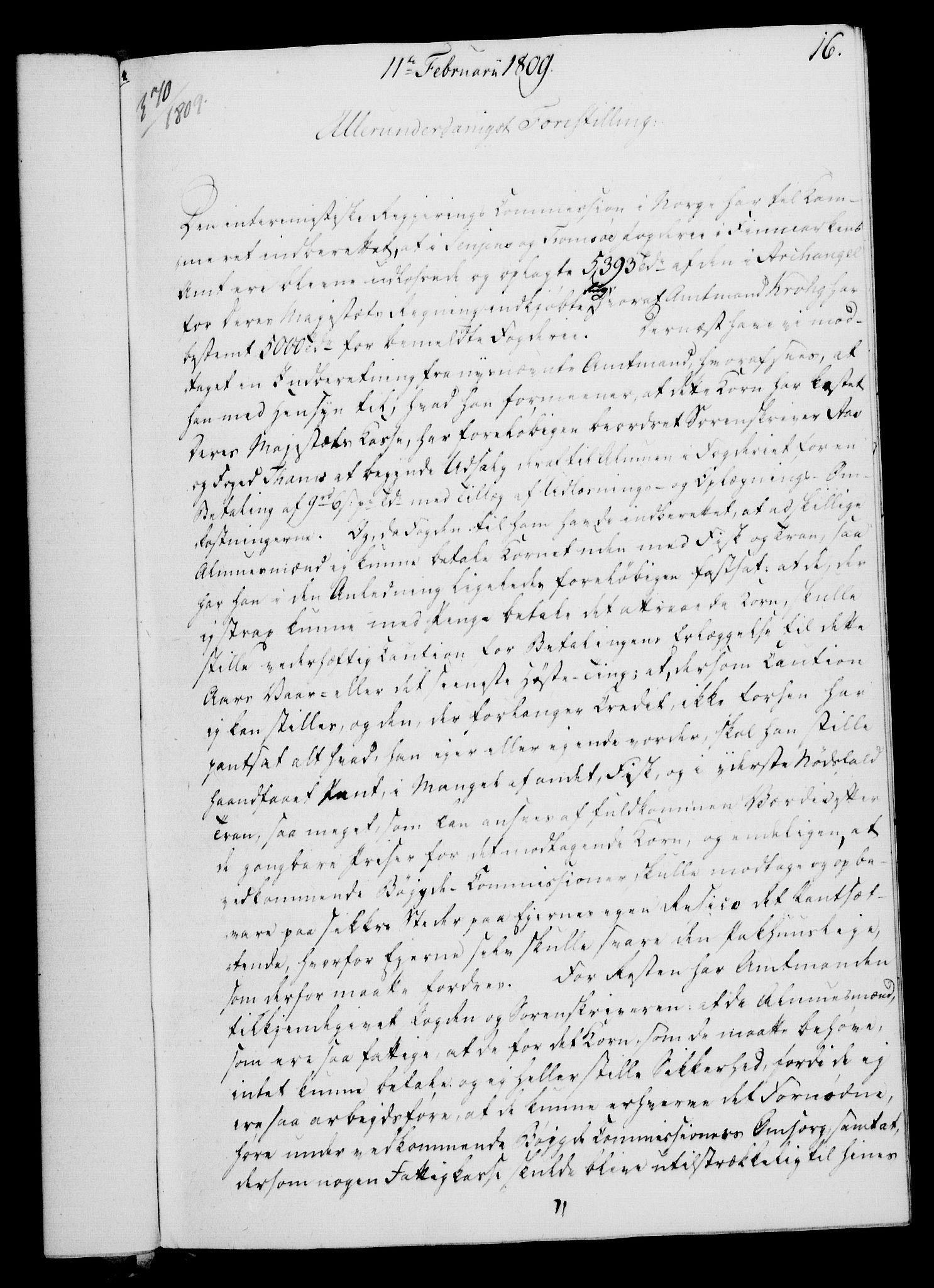 RA, Rentekammeret, Kammerkanselliet, G/Gf/Gfa/L0091: Norsk relasjons- og resolusjonsprotokoll (merket RK 52.91), 1809, s. 97