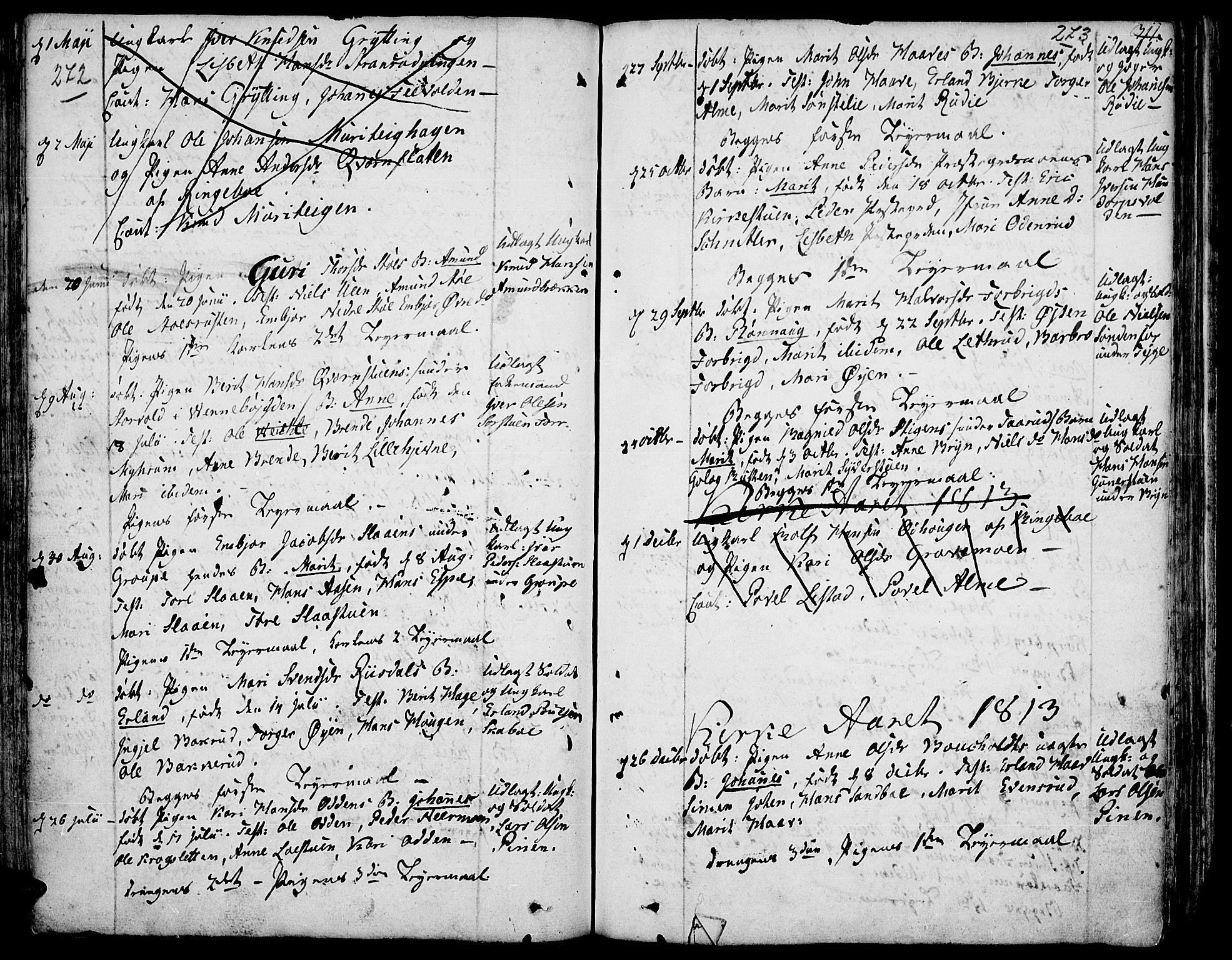 SAH, Fron prestekontor, H/Ha/Haa/L0001: Ministerialbok nr. 1, 1799-1816, s. 272-273