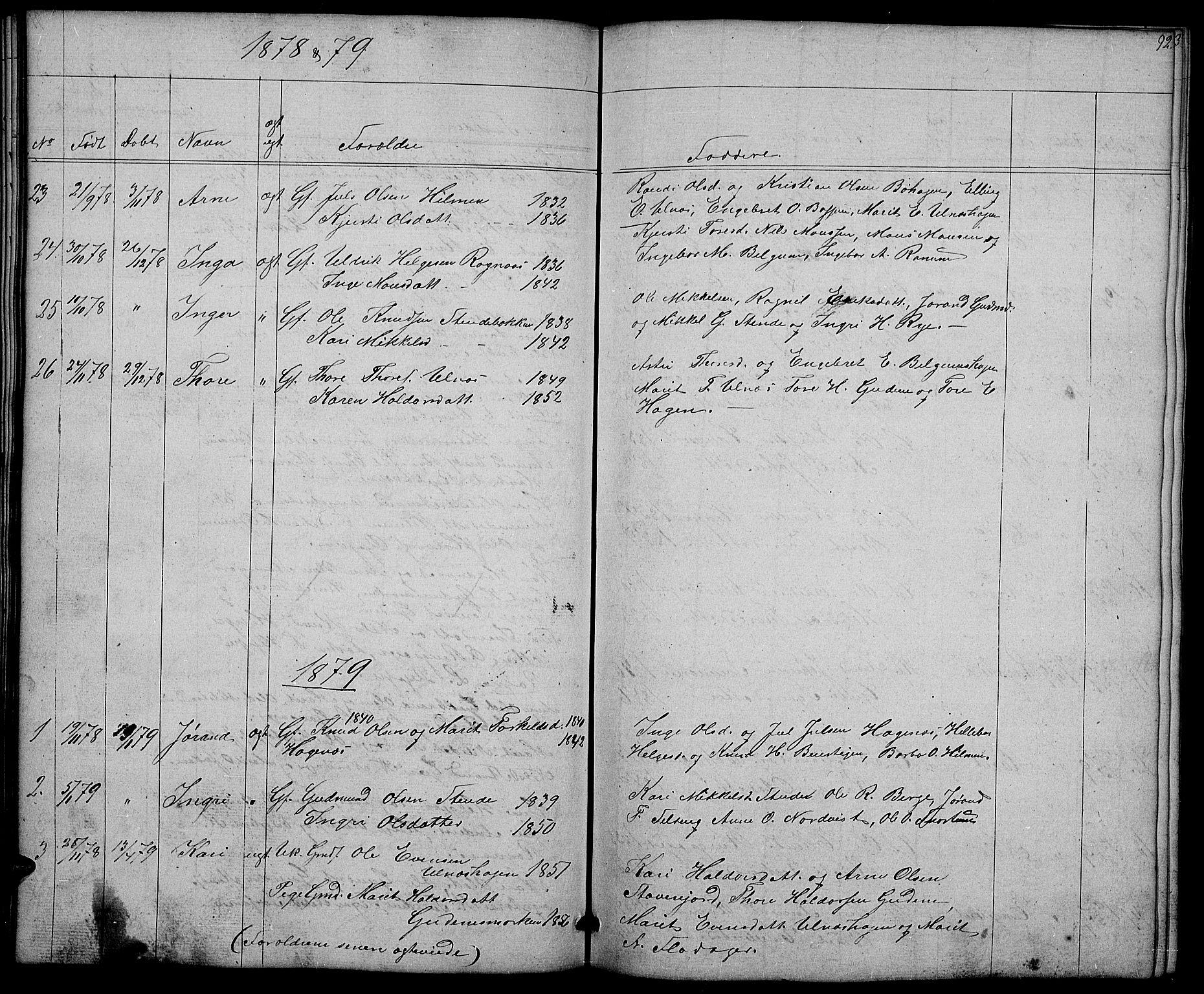 SAH, Nord-Aurdal prestekontor, Klokkerbok nr. 4, 1842-1882, s. 92