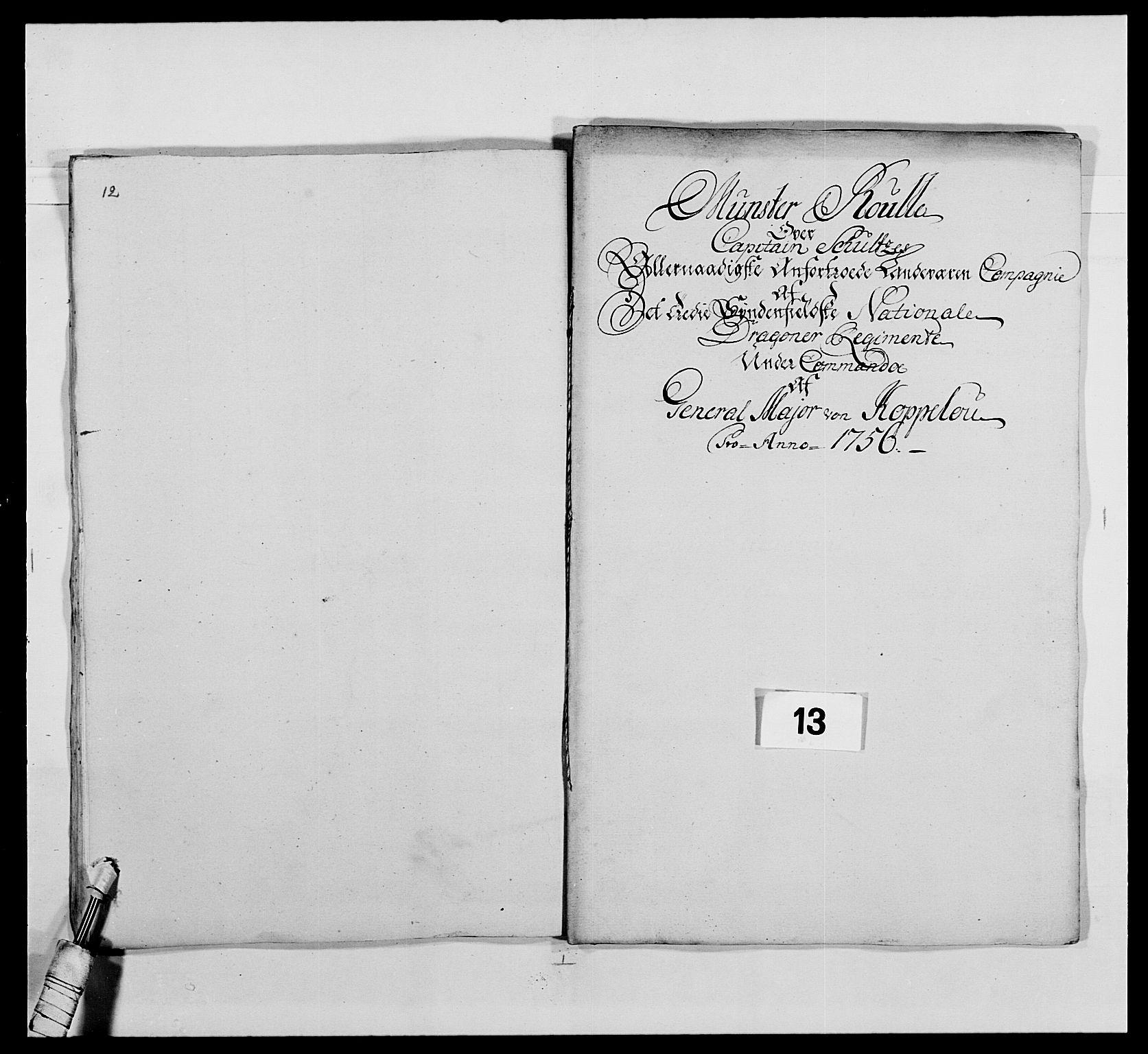 RA, Kommanderende general (KG I) med Det norske krigsdirektorium, E/Ea/L0479: 3. Sønnafjelske dragonregiment, 1756-1760, s. 241