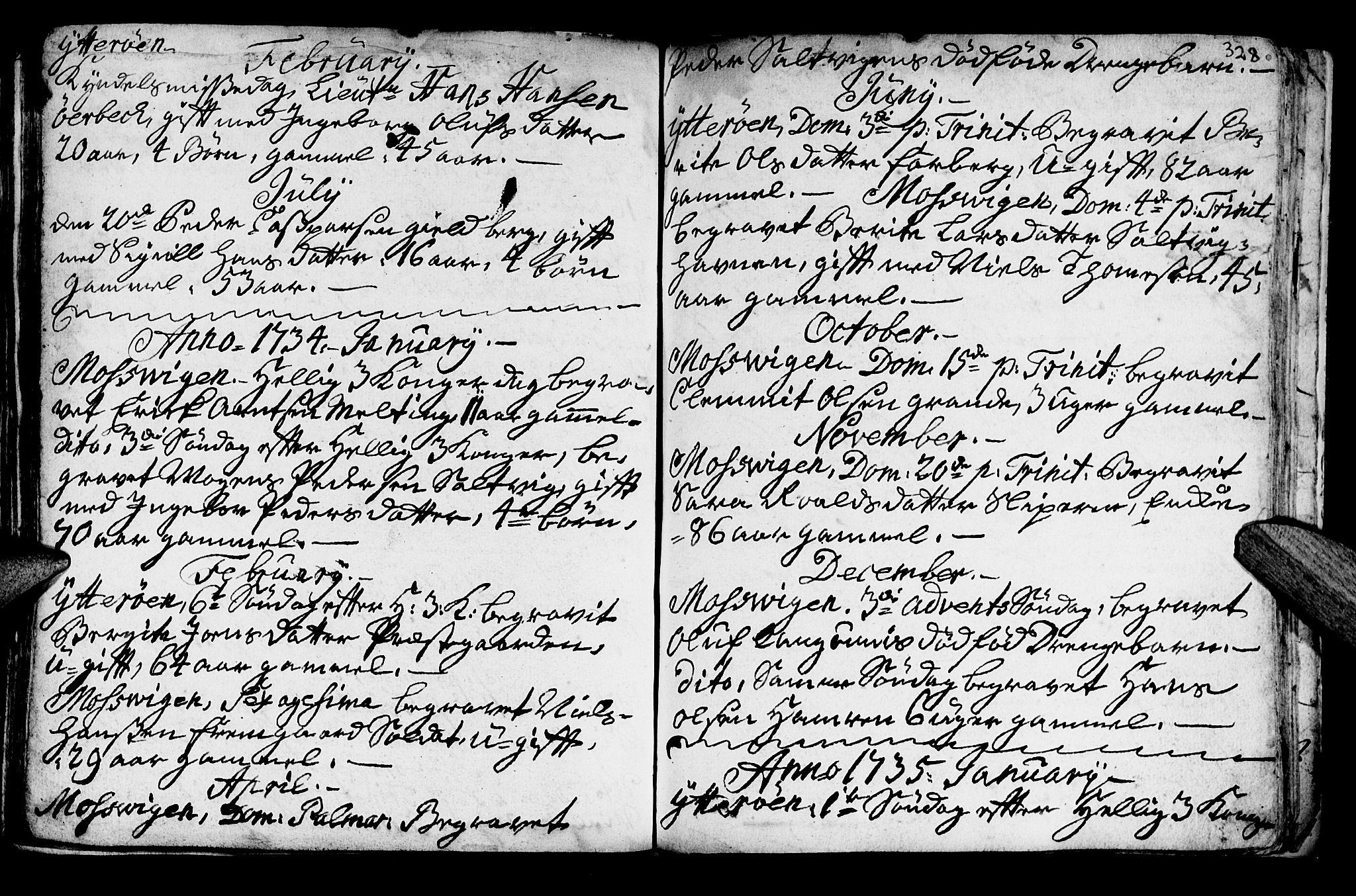 SAT, Ministerialprotokoller, klokkerbøker og fødselsregistre - Nord-Trøndelag, 722/L0215: Ministerialbok nr. 722A02, 1718-1755, s. 328