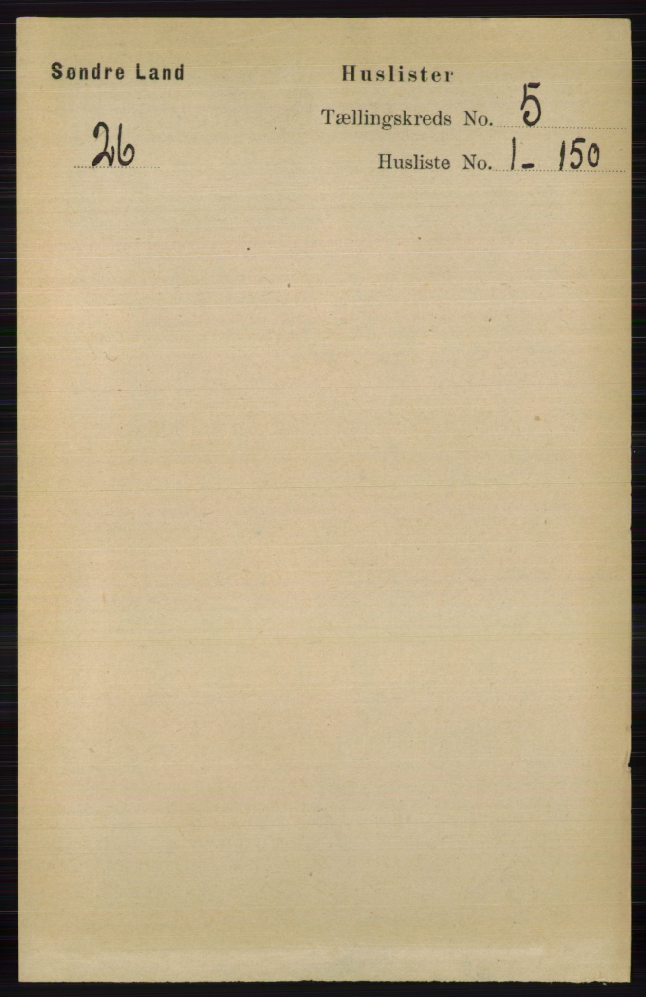 RA, Folketelling 1891 for 0536 Søndre Land herred, 1891, s. 4657