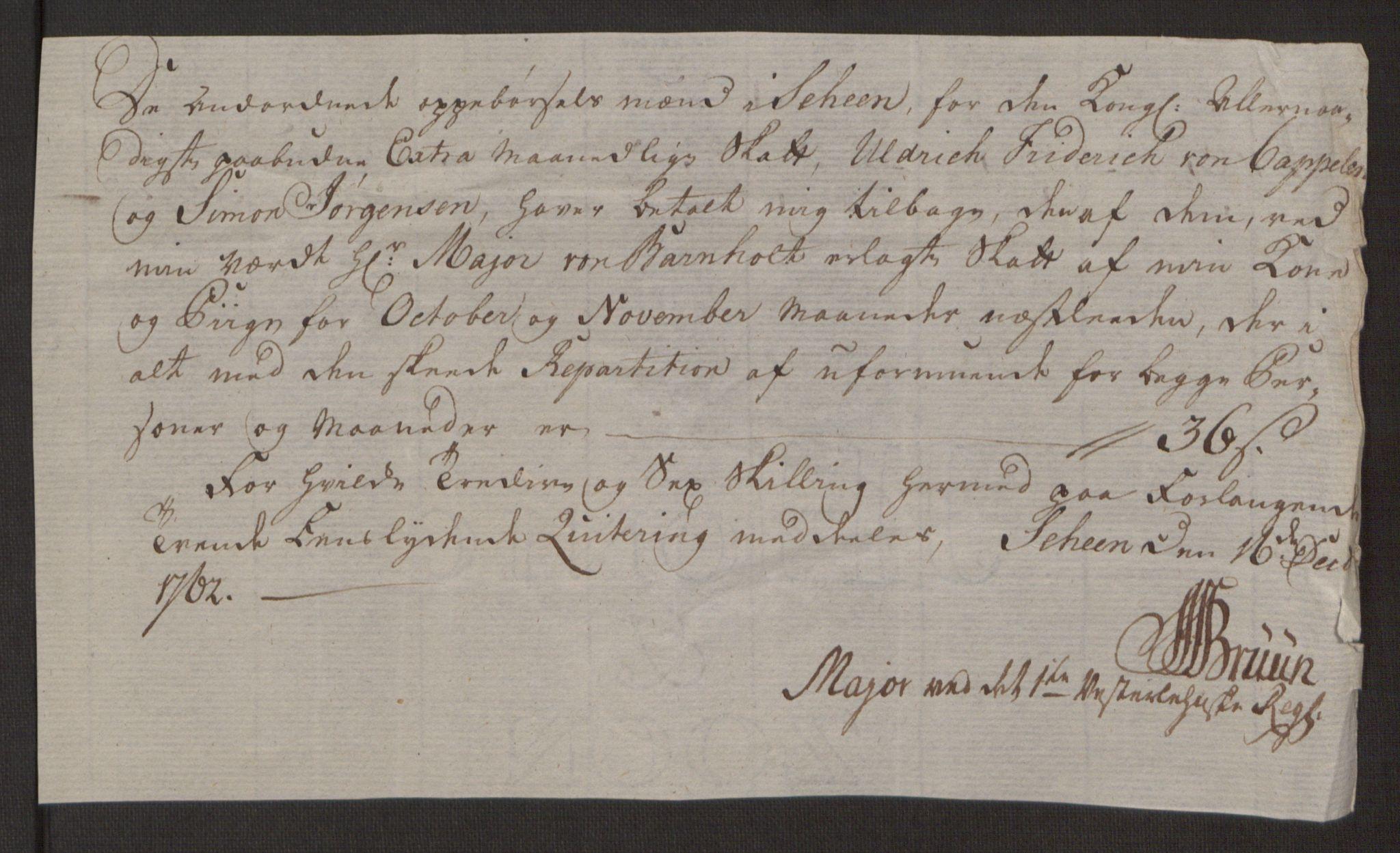 RA, Rentekammeret inntil 1814, Reviderte regnskaper, Byregnskaper, R/Rj/L0198: [J4] Kontribusjonsregnskap, 1762-1768, s. 100