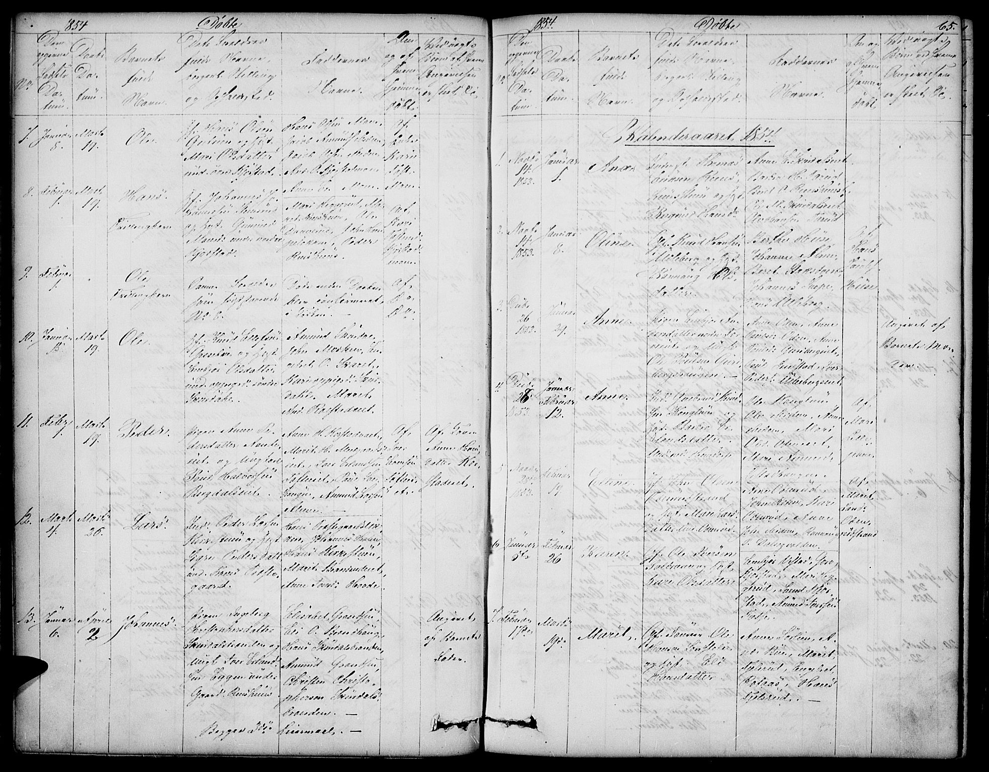 SAH, Sør-Fron prestekontor, H/Ha/Hab/L0001: Klokkerbok nr. 1, 1844-1863, s. 65