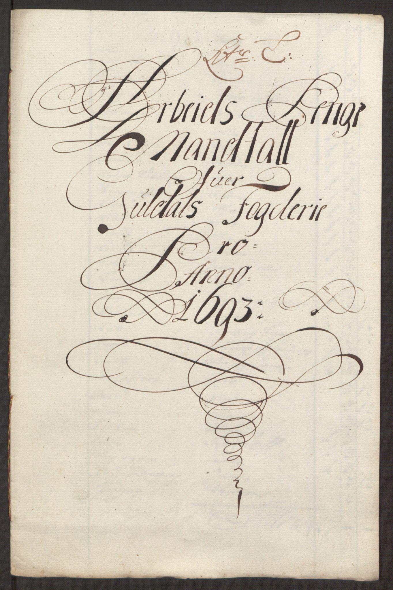 RA, Rentekammeret inntil 1814, Reviderte regnskaper, Fogderegnskap, R59/L3943: Fogderegnskap Gauldal, 1693, s. 139