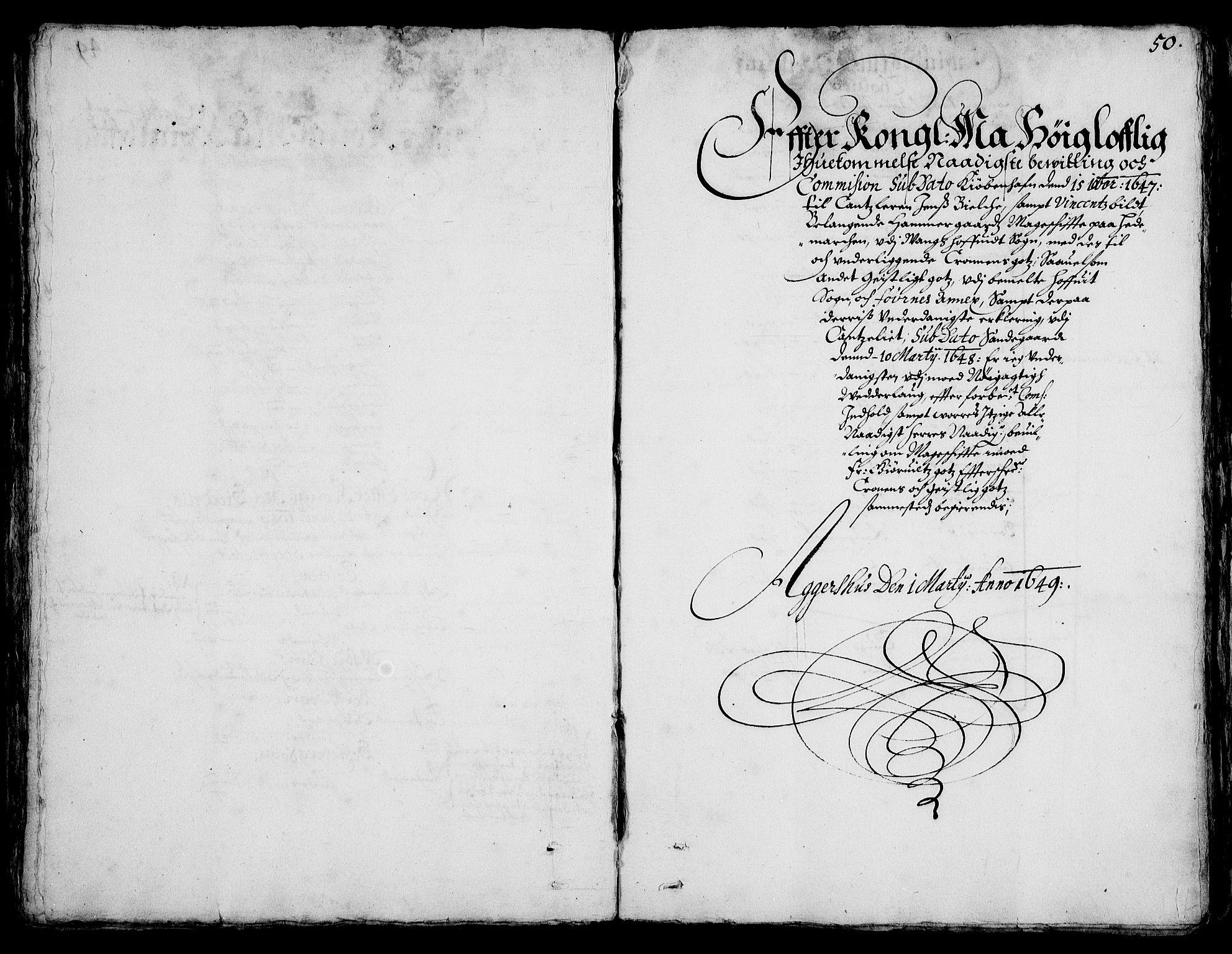 RA, Rentekammeret inntil 1814, Realistisk ordnet avdeling, On/L0001: Statens gods, 1651, s. 49b-50a
