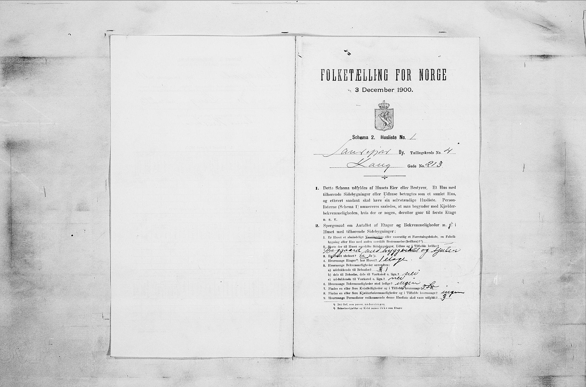 RA, Folketelling 1900 for 0706 Sandefjord kjøpstad, 1900, s. 902