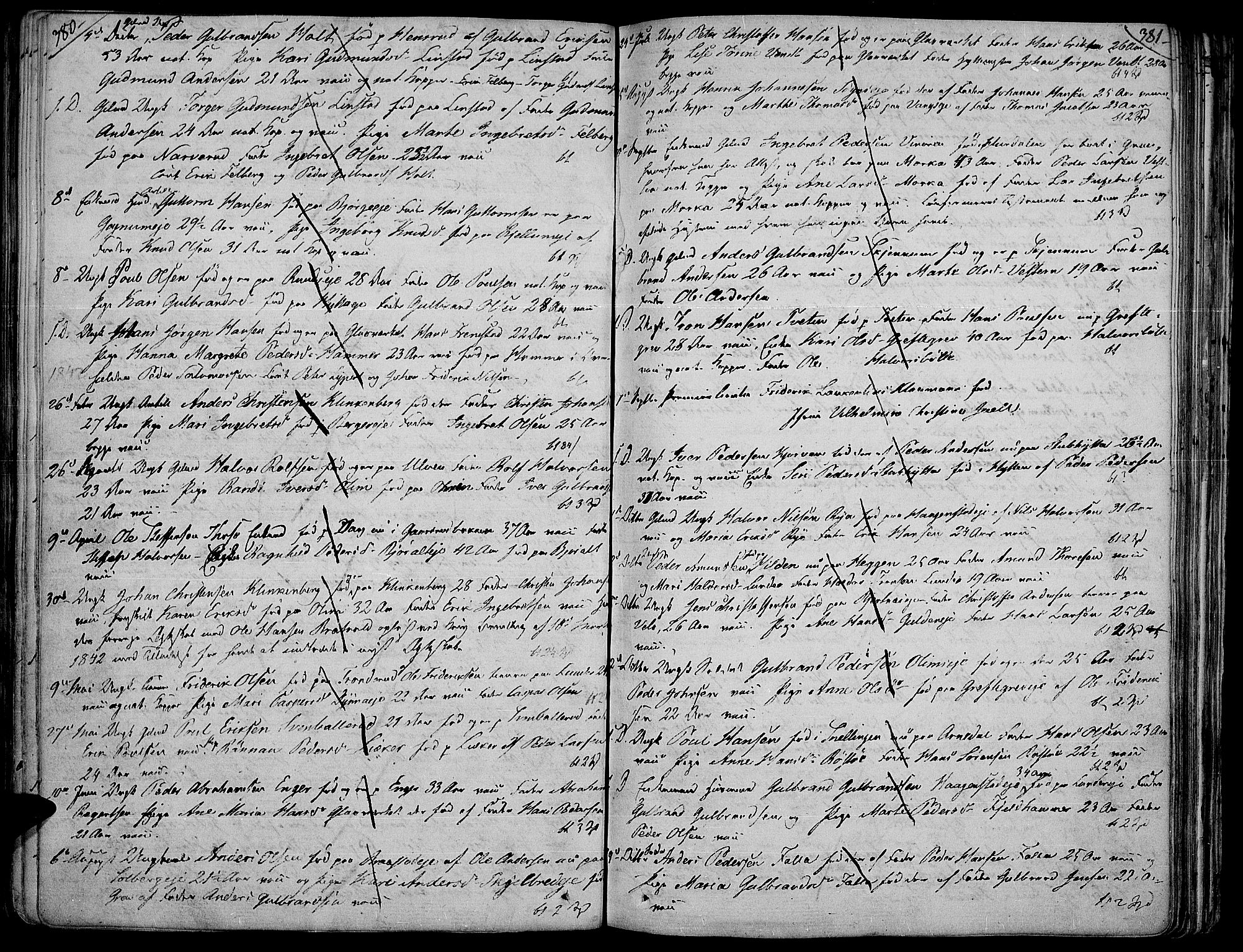 SAH, Jevnaker prestekontor, Ministerialbok nr. 4, 1800-1861, s. 380-381