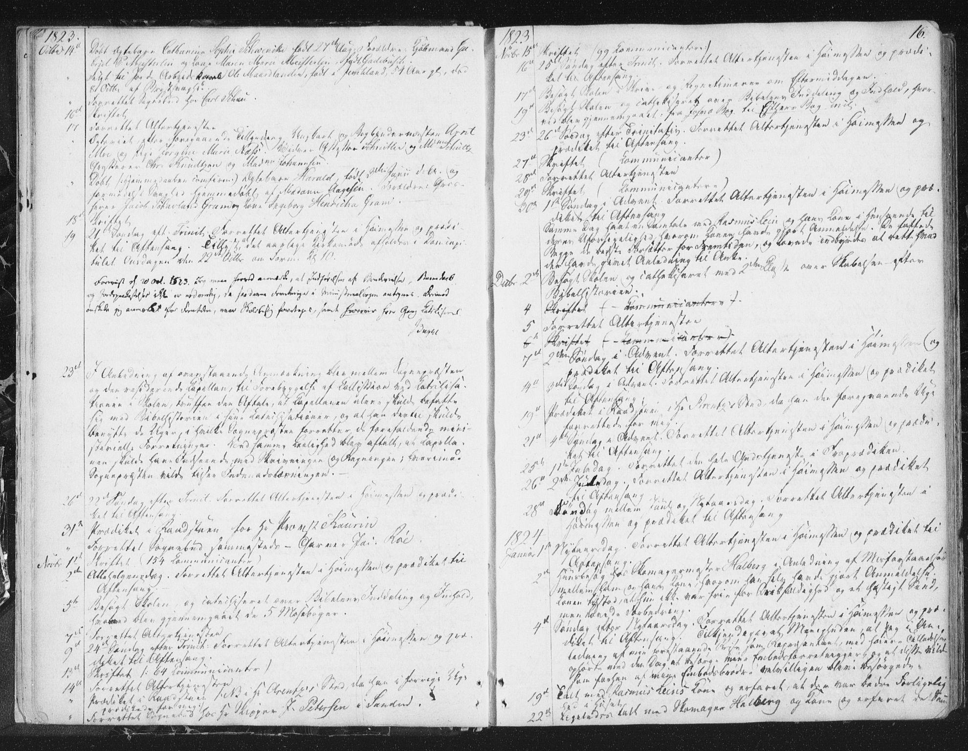 SAT, Ministerialprotokoller, klokkerbøker og fødselsregistre - Sør-Trøndelag, 602/L0127: Residerende kapellans bok nr. 602B01, 1821-1875, s. 16
