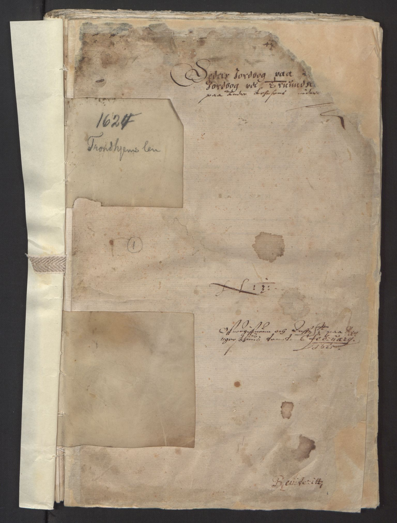 RA, Stattholderembetet 1572-1771, Ek/L0013: Jordebøker til utlikning av rosstjeneste 1624-1626:, 1624-1625, s. 3