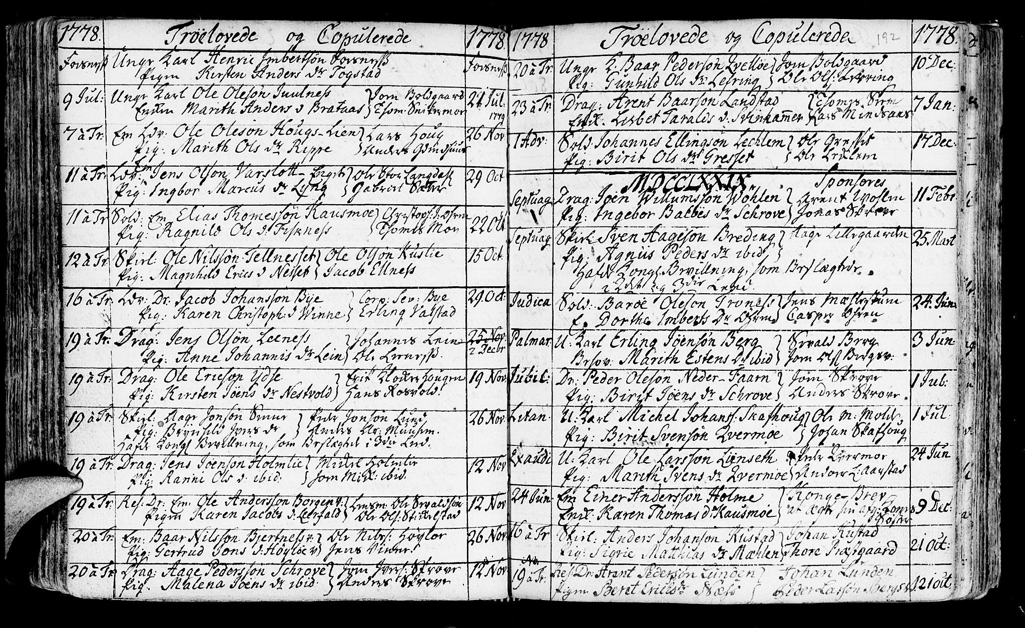 SAT, Ministerialprotokoller, klokkerbøker og fødselsregistre - Nord-Trøndelag, 723/L0231: Ministerialbok nr. 723A02, 1748-1780, s. 192