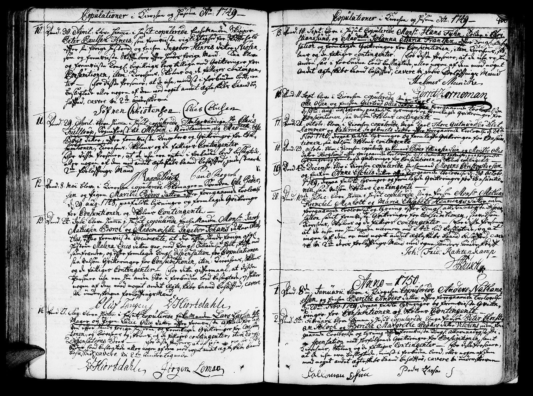 SAT, Ministerialprotokoller, klokkerbøker og fødselsregistre - Sør-Trøndelag, 602/L0103: Ministerialbok nr. 602A01, 1732-1774, s. 406