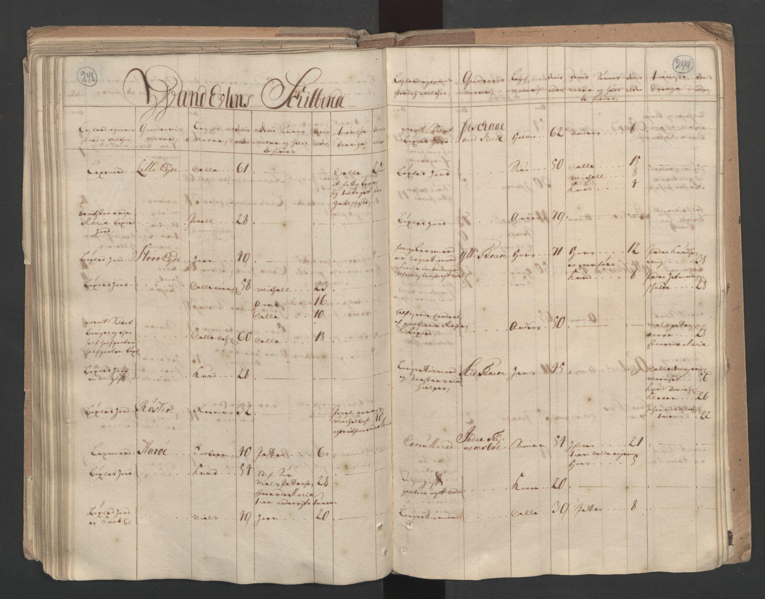 RA, Manntallet 1701, nr. 10: Sunnmøre fogderi, 1701, s. 248-249