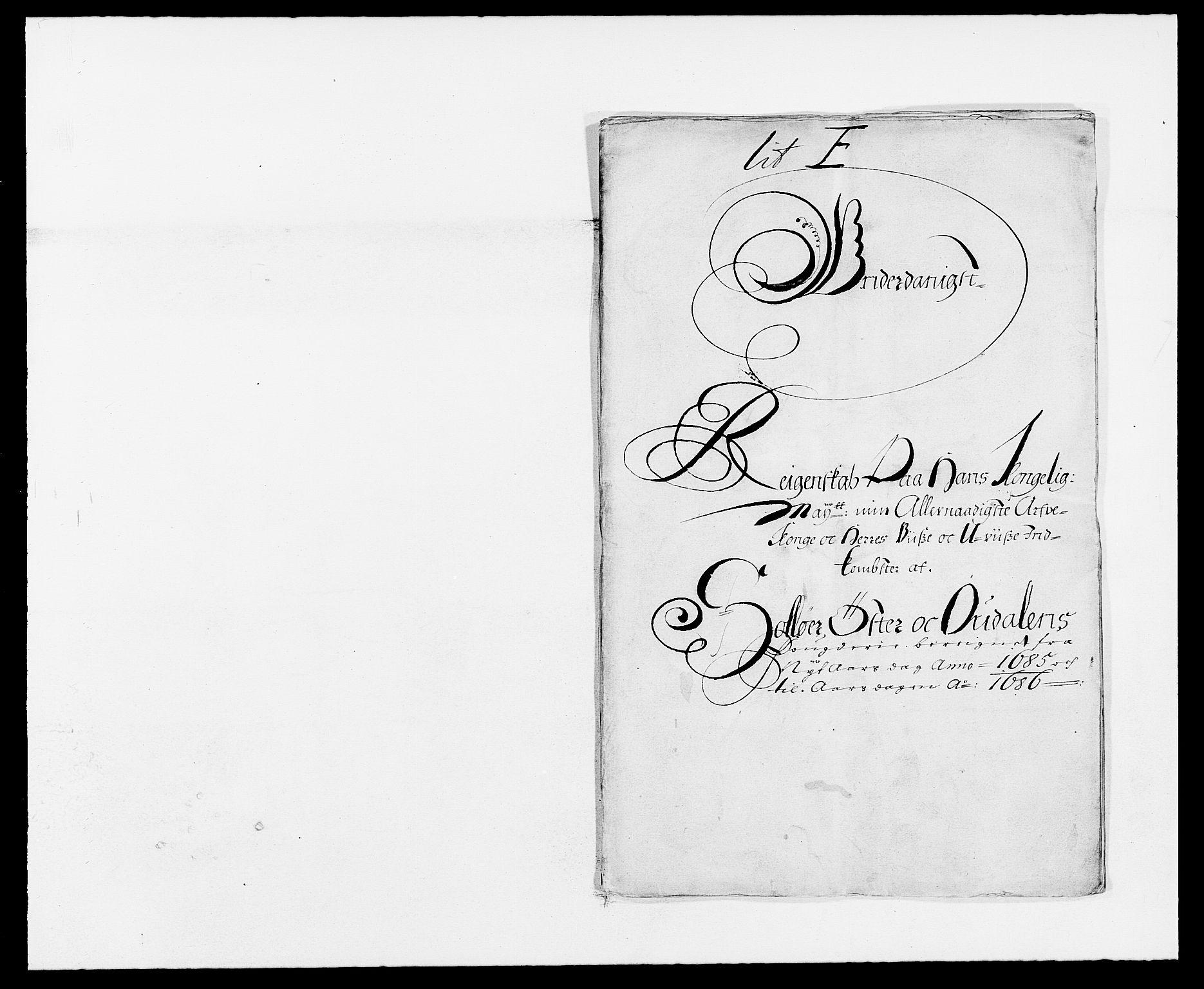 RA, Rentekammeret inntil 1814, Reviderte regnskaper, Fogderegnskap, R13/L0822: Fogderegnskap Solør, Odal og Østerdal, 1685, s. 18