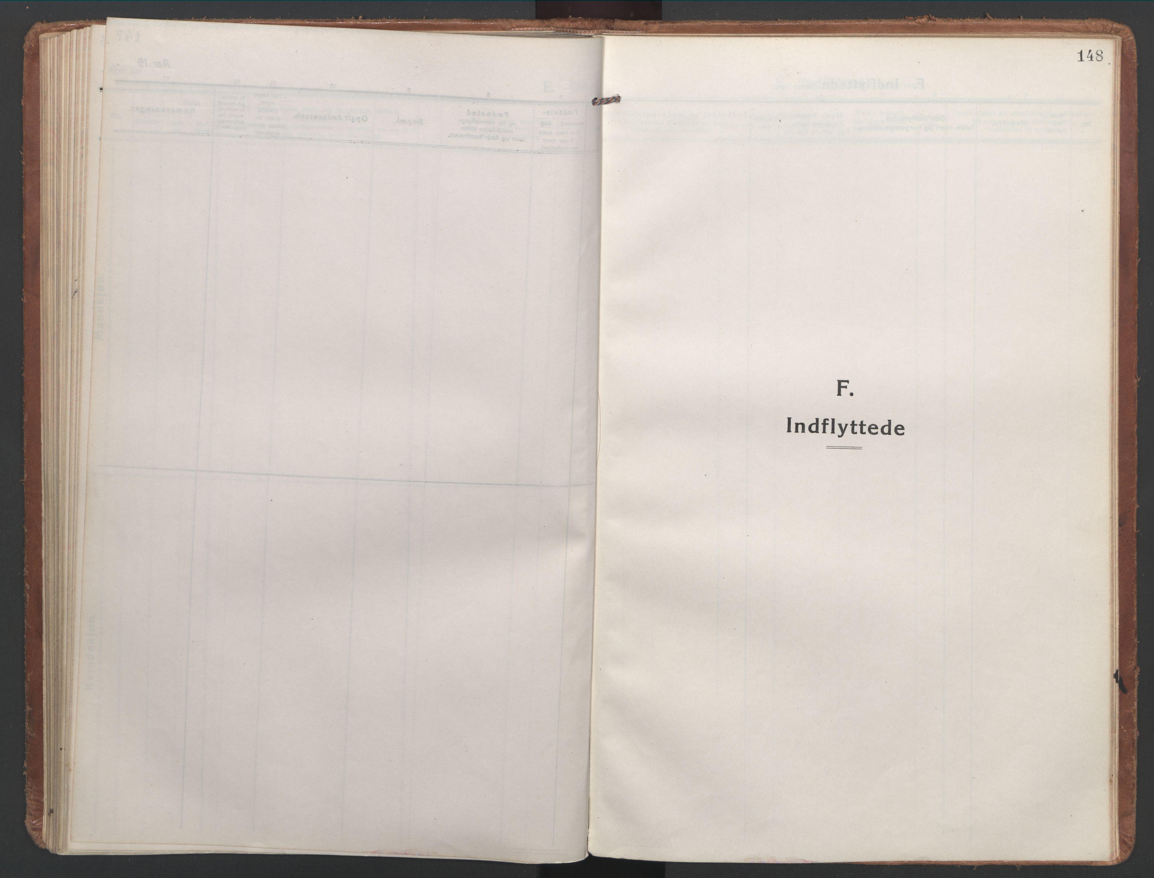 SAT, Ministerialprotokoller, klokkerbøker og fødselsregistre - Nordland, 886/L1222: Ministerialbok nr. 886A04, 1914-1926, s. 148