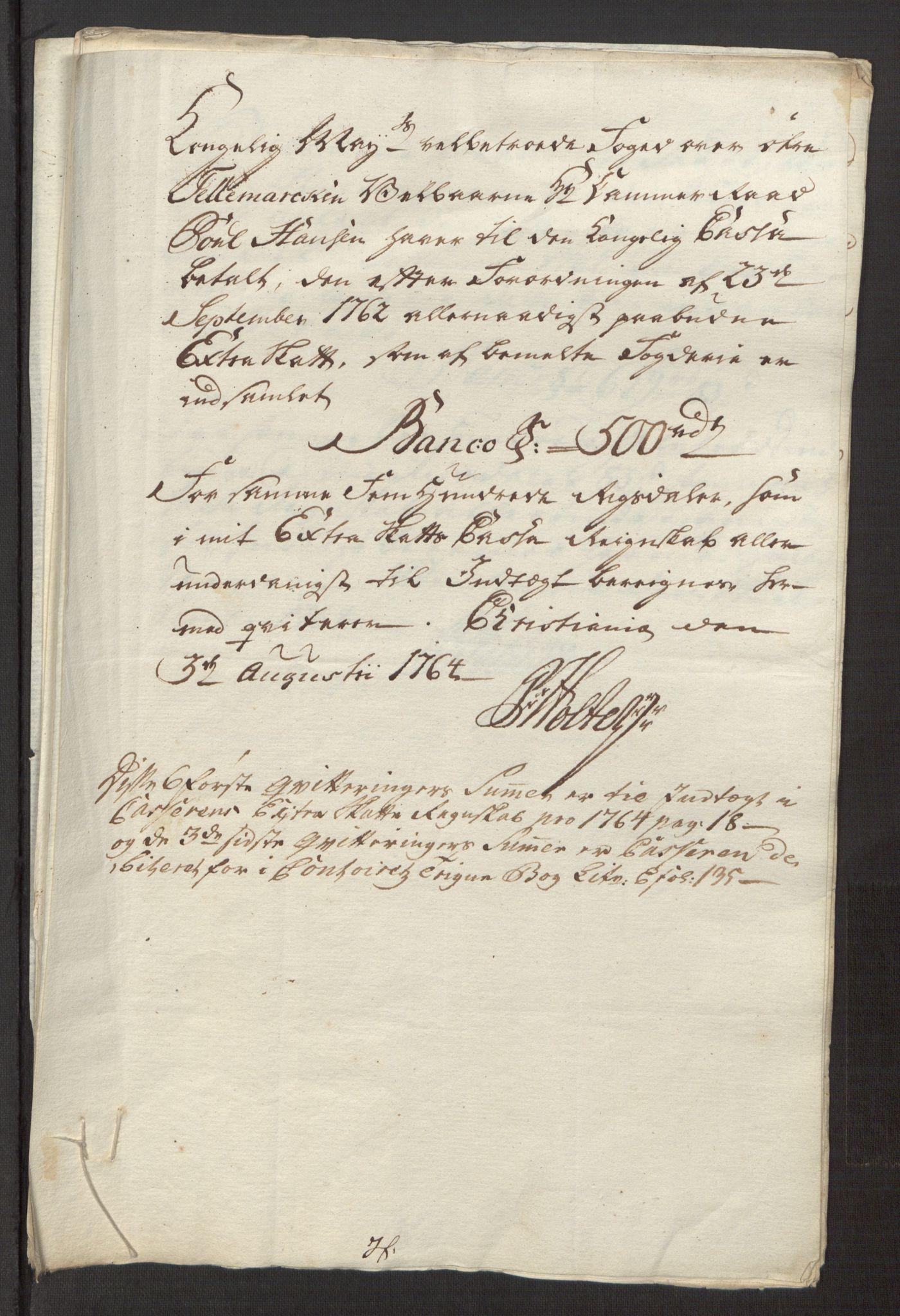 RA, Rentekammeret inntil 1814, Reviderte regnskaper, Fogderegnskap, R38/L2293: Ekstraskatten Øvre Telemark, 1762-1770, s. 47