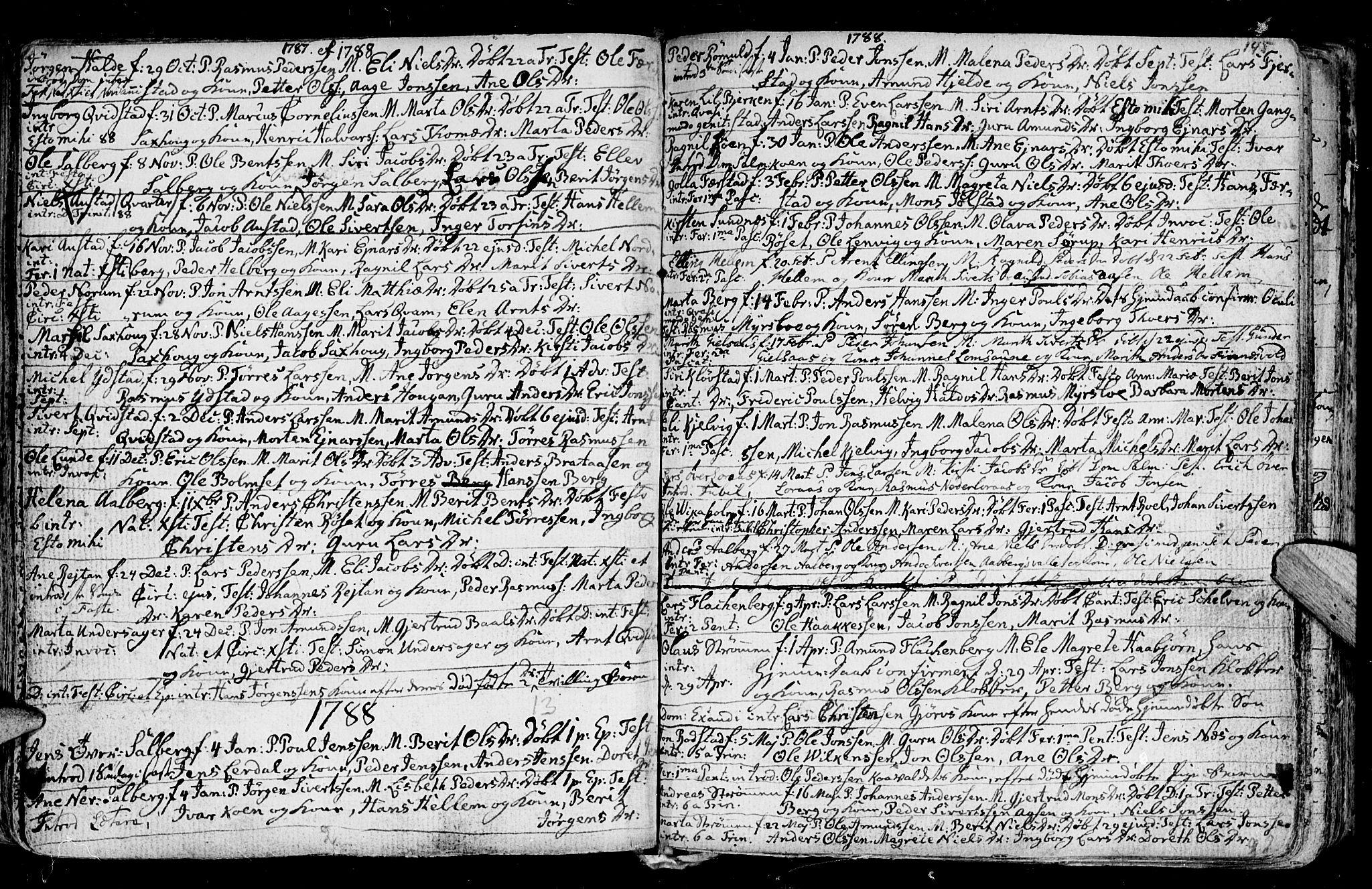 SAT, Ministerialprotokoller, klokkerbøker og fødselsregistre - Nord-Trøndelag, 730/L0273: Ministerialbok nr. 730A02, 1762-1802, s. 145