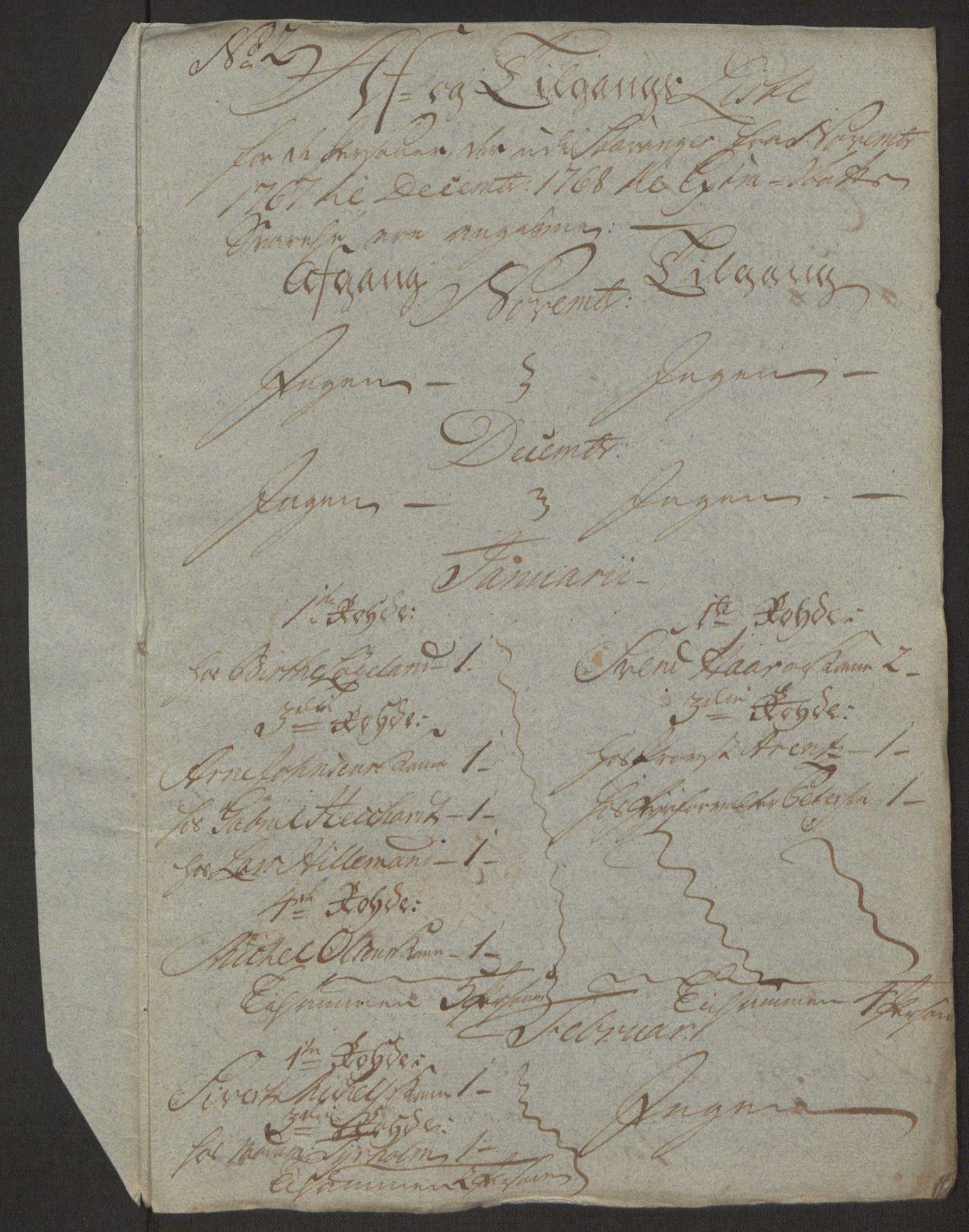 RA, Rentekammeret inntil 1814, Reviderte regnskaper, Byregnskaper, R/Ro/L0305: [O6] Kontribusjonsregnskap, 1762-1768, s. 379