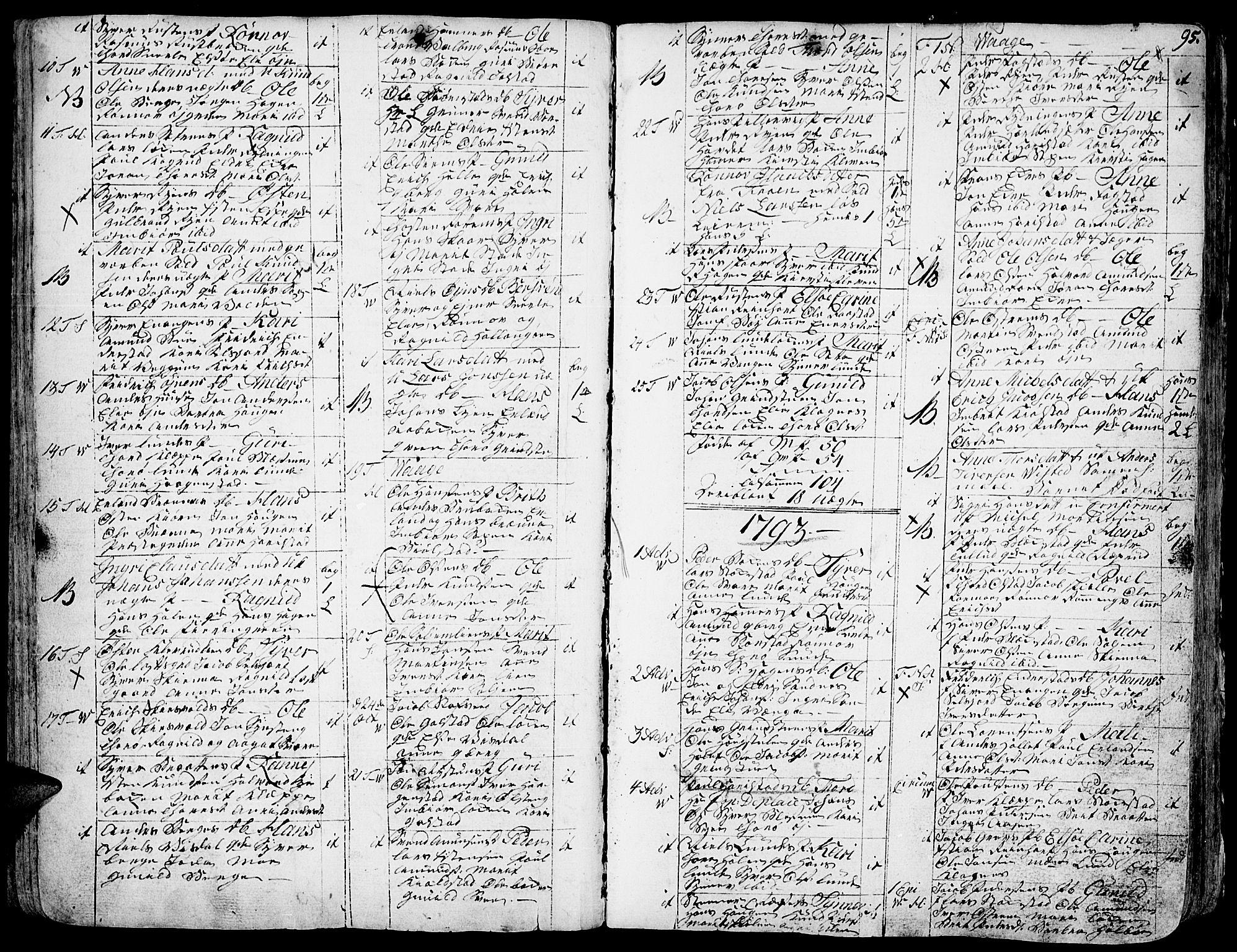 SAH, Vågå prestekontor, Ministerialbok nr. 1, 1739-1810, s. 95